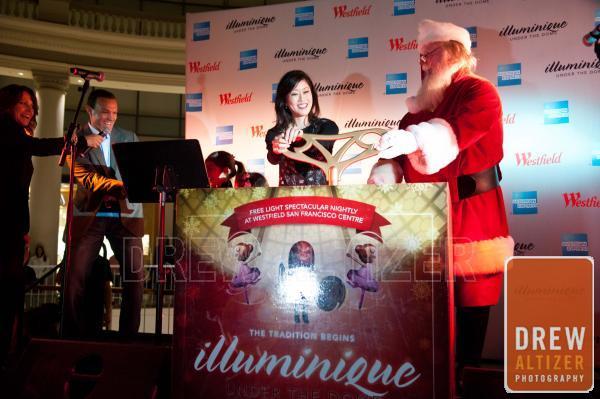 Kristi Yamaguchi with Santa