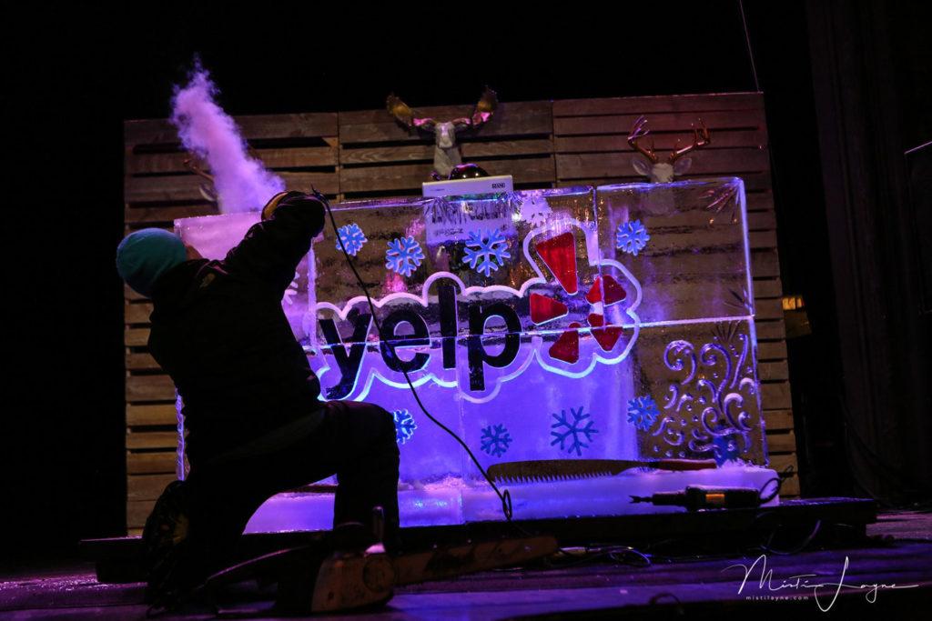yelp, ice sculpture