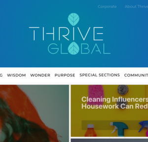 Thrive Global Article- Lift your Legacy