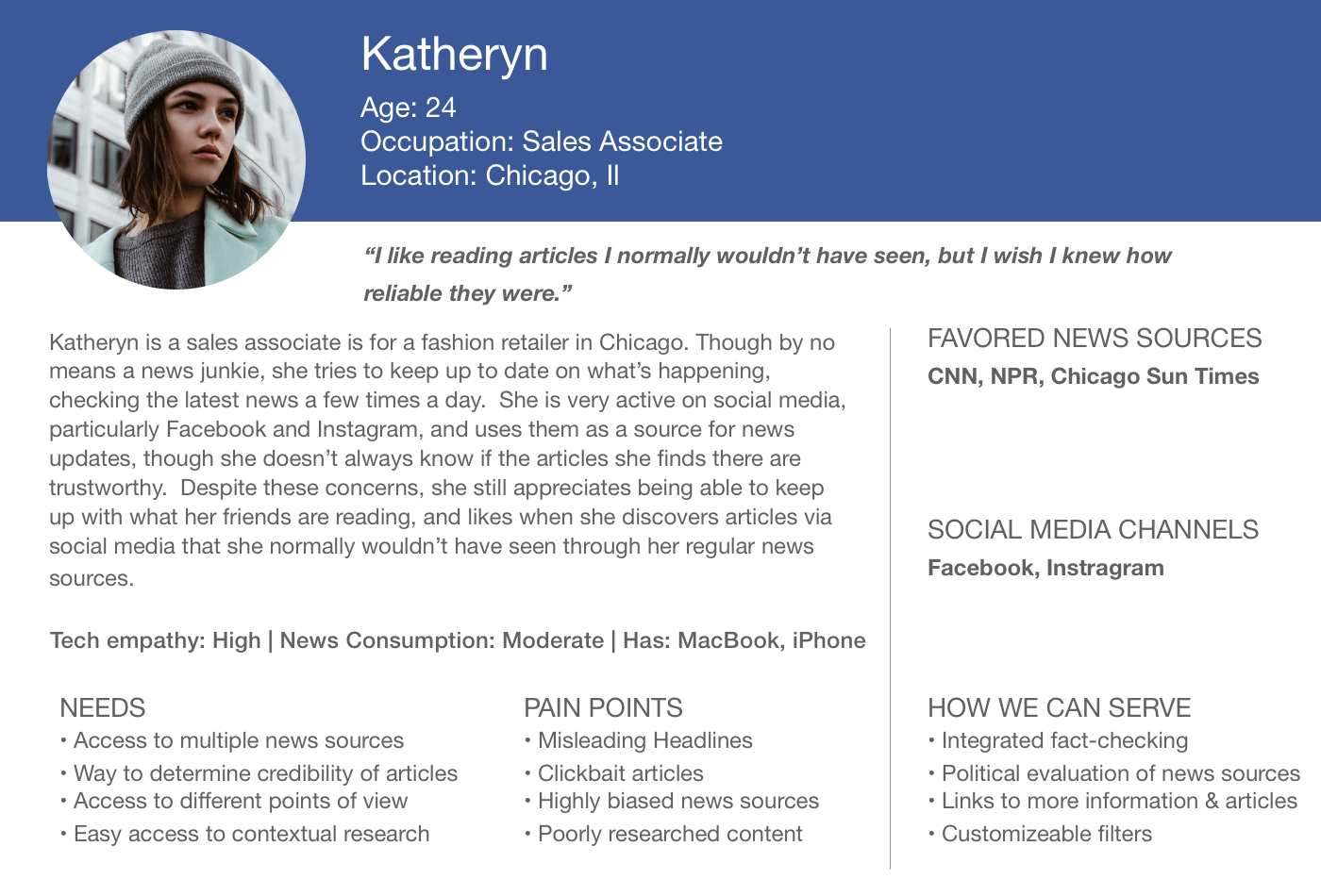 Primary Persona: Katheryn