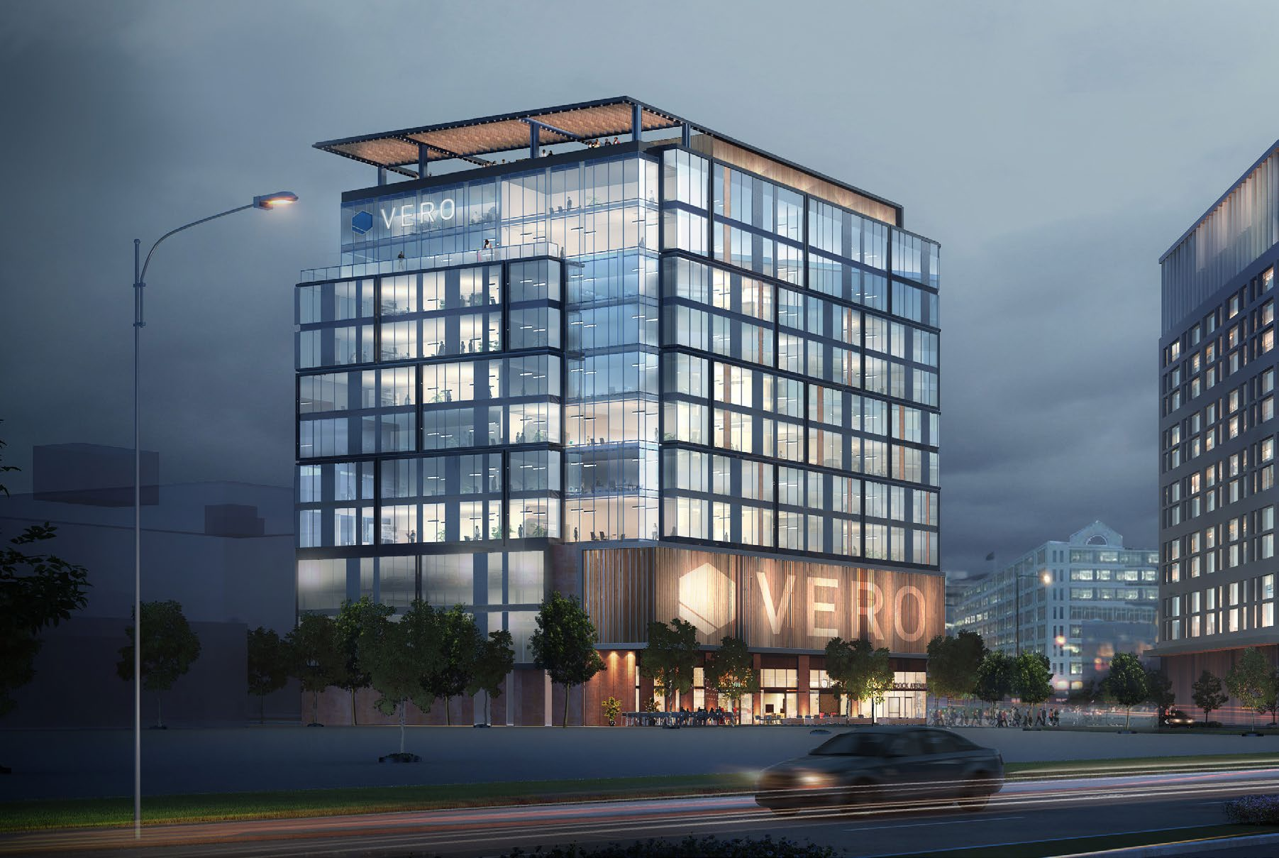 A Brand BEACON - Centrally located near the Seaport and Logan Airport, the strategic potential of Two Drydock branding is clear.
