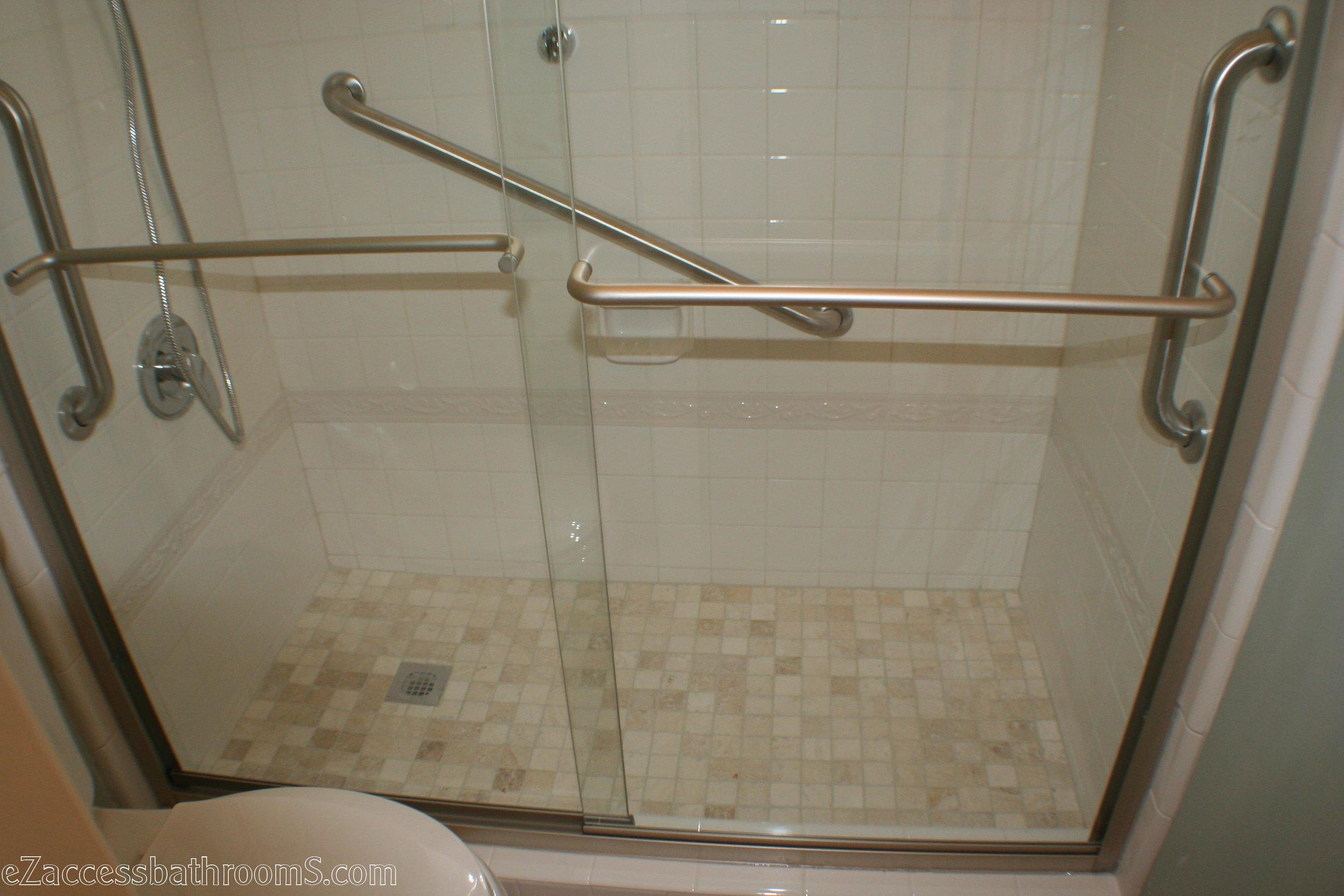 Budget tub to shower conversion ezaccessbathrooms.com 8322028473 010.JPG