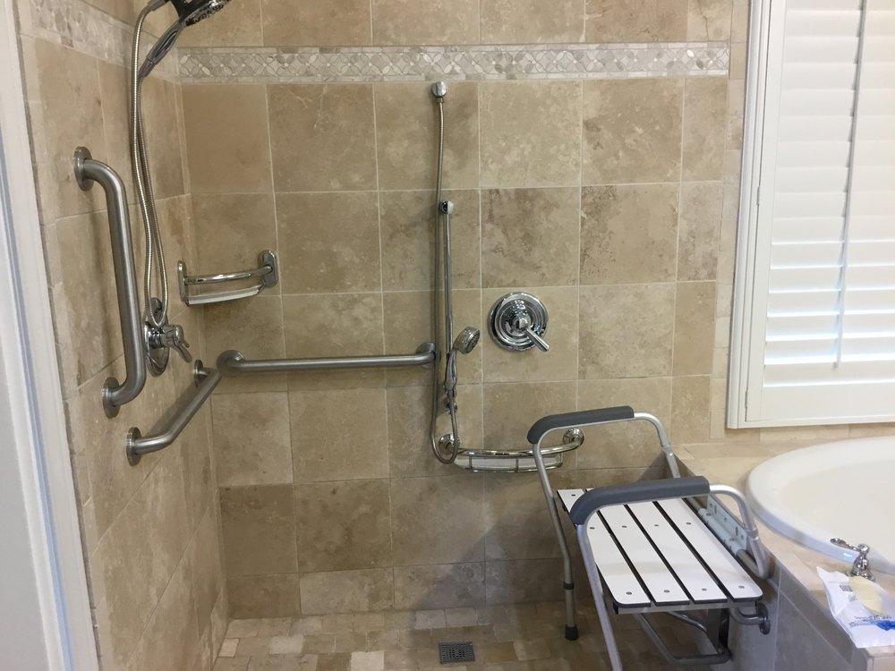 Handicap Grab Bar Installations And, Bathroom Handicap Rails