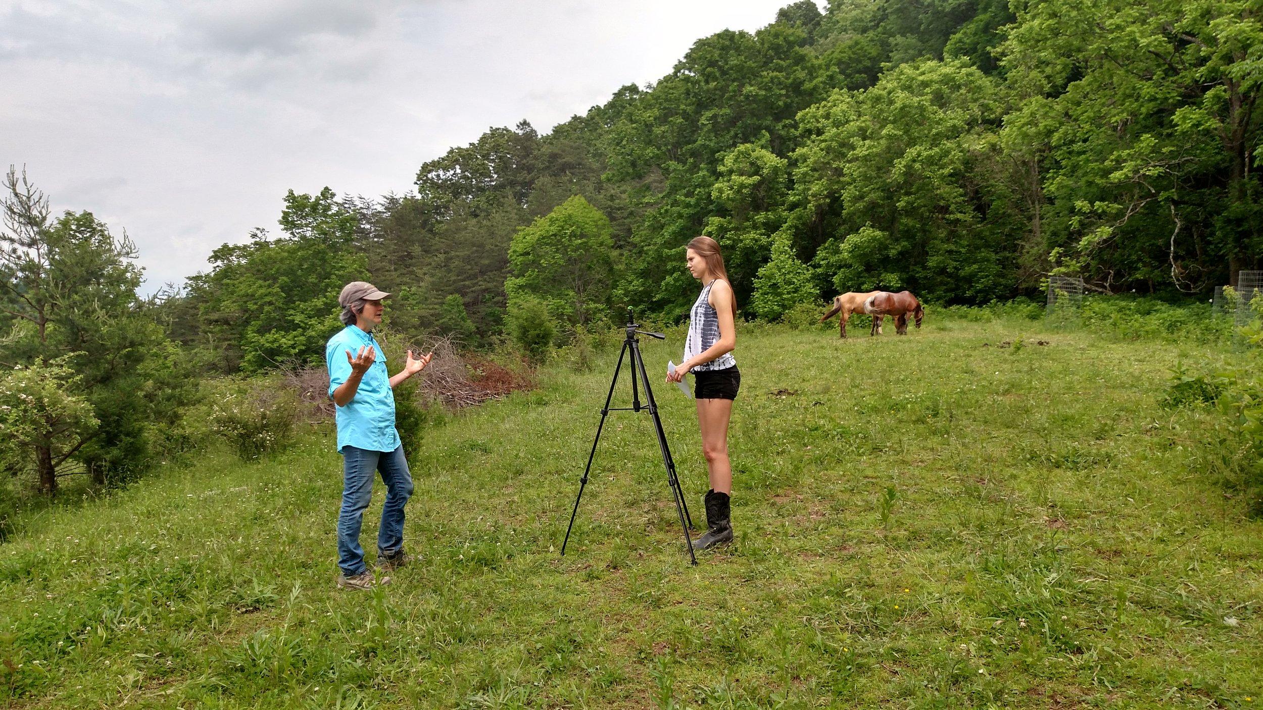 Sharon Sluss, Hilltop of Rainbow's End Farm, West Virginia.