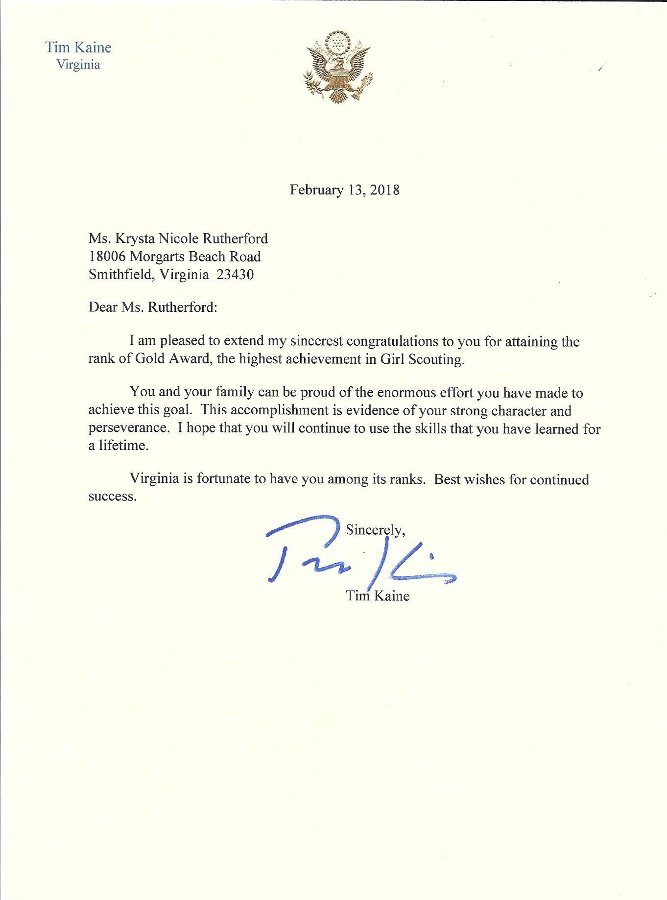 Letter from Senator Tim Kaine.jpg