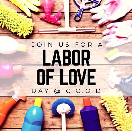 Join us for a labor of love on 7/14 following service 💒  We will have decor and paint projects for the upcoming VBS. We will also be cleaning out the shed among a few other things. Bring a change of clothes if desired.  Thank you so much church family, hope you all can make it!  #labor #love #churchwork #helpinghands #thebody #worktogether #putinwork #dontbeapewpotato #vbs #devoreheights #sanbernardino #smallchurch #youtube