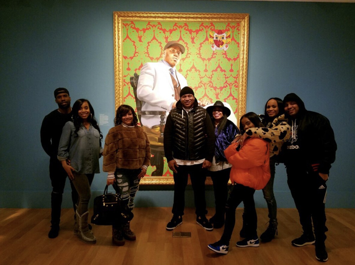 """Via IG @LLCoolJ  '""""My portrait painted by  @kehindewiley officially hangs in the Smithsonian National Portrait Gallery.It feels good to share this moment with my family. This is actual proof that anything is possible. The future holds unlimited possibilities for us all. Go get it!"""""""