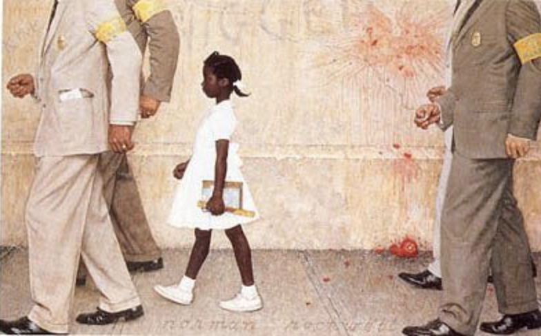 The Problem We All Live With | By   Norman Rockwell