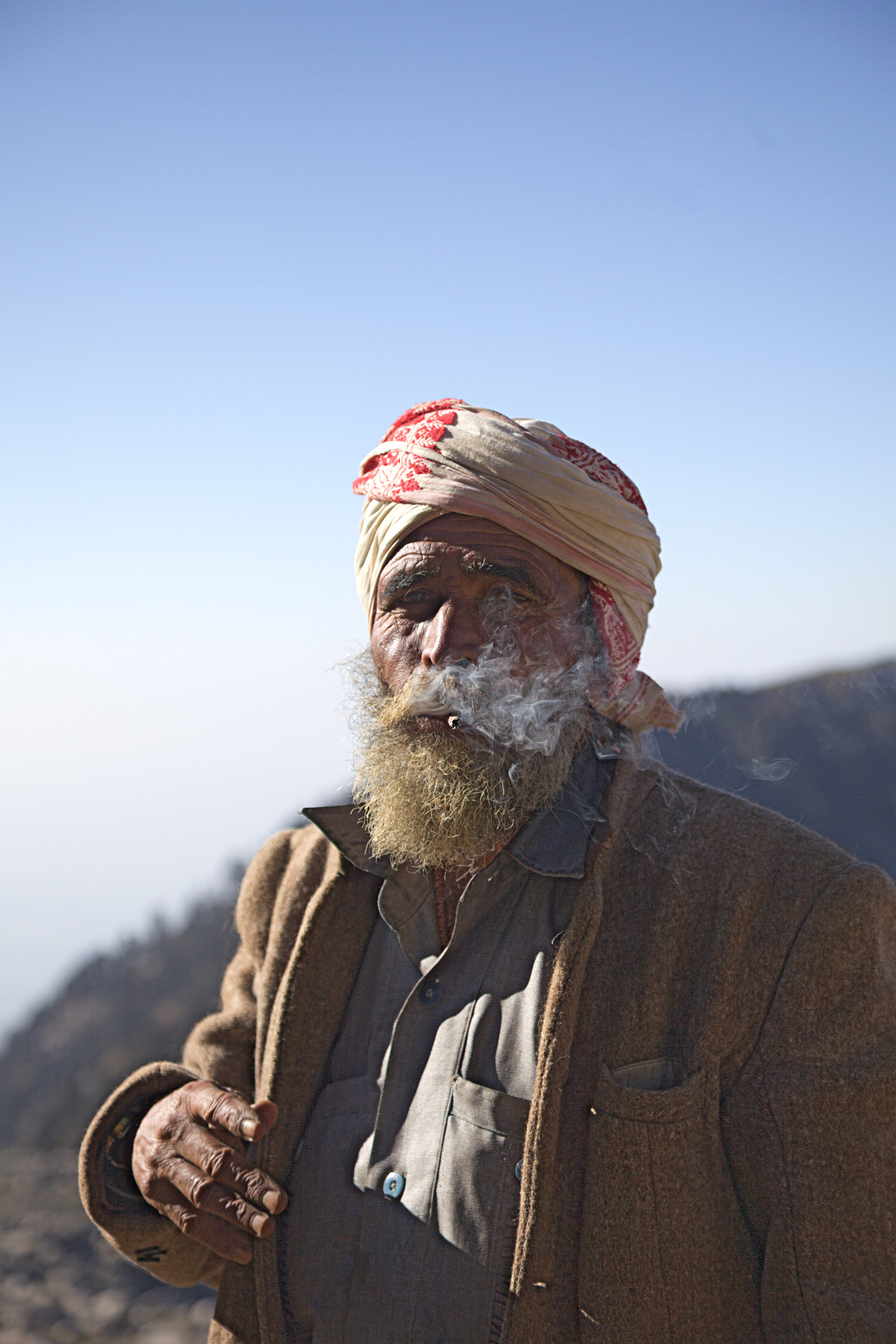 Arjun, the star of the film 'The Golden-Laden Sheep and Sacred Mountain', a film about Gaddis and their belief systems. He is a real shepherd from the district Kangra in Himachal Pradesh.