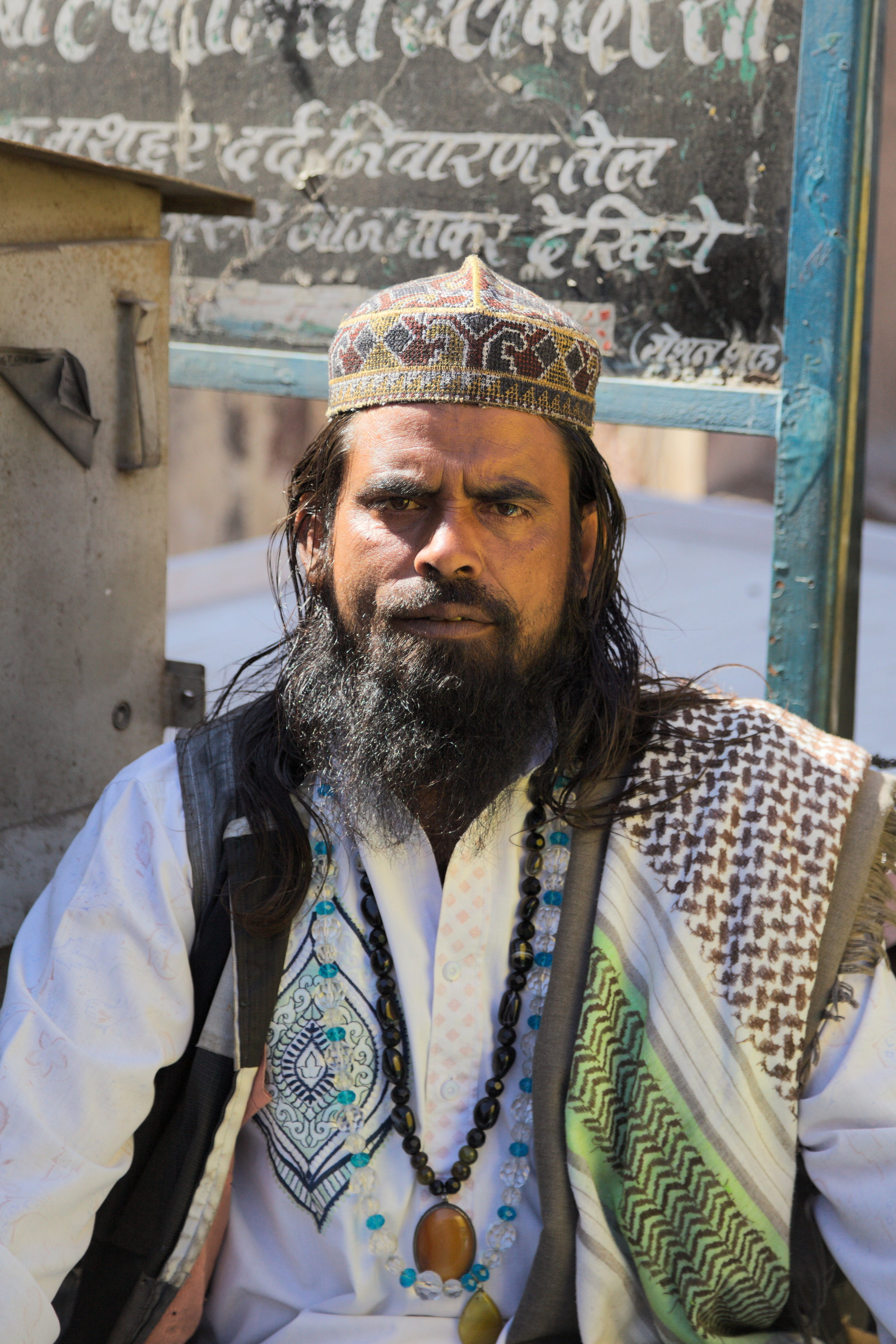 The keeper of a Sufi shrine in Bikaner, Rajasthan