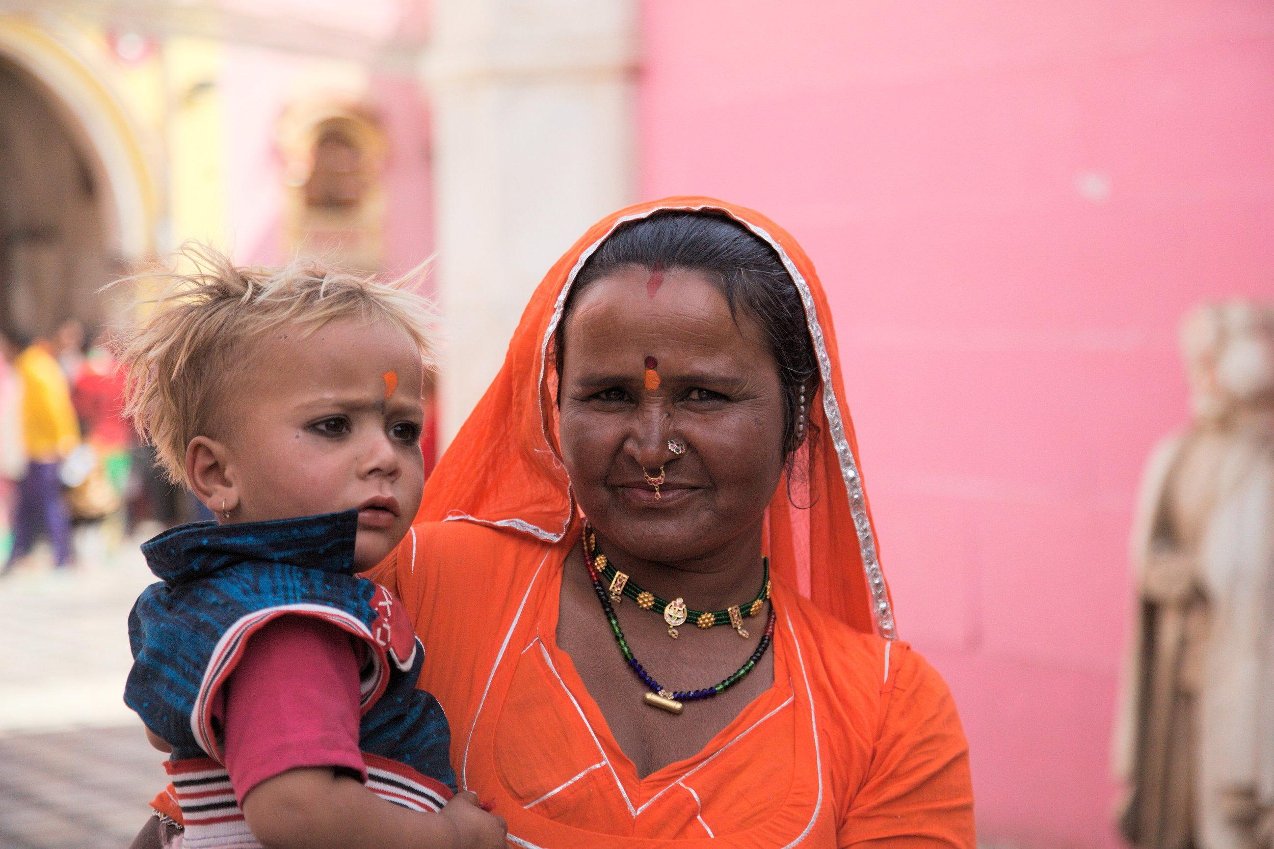Worshippers at Karni Mata temple, Rajasthan