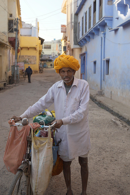 A vegetable seller in Bundi, Rajasthan