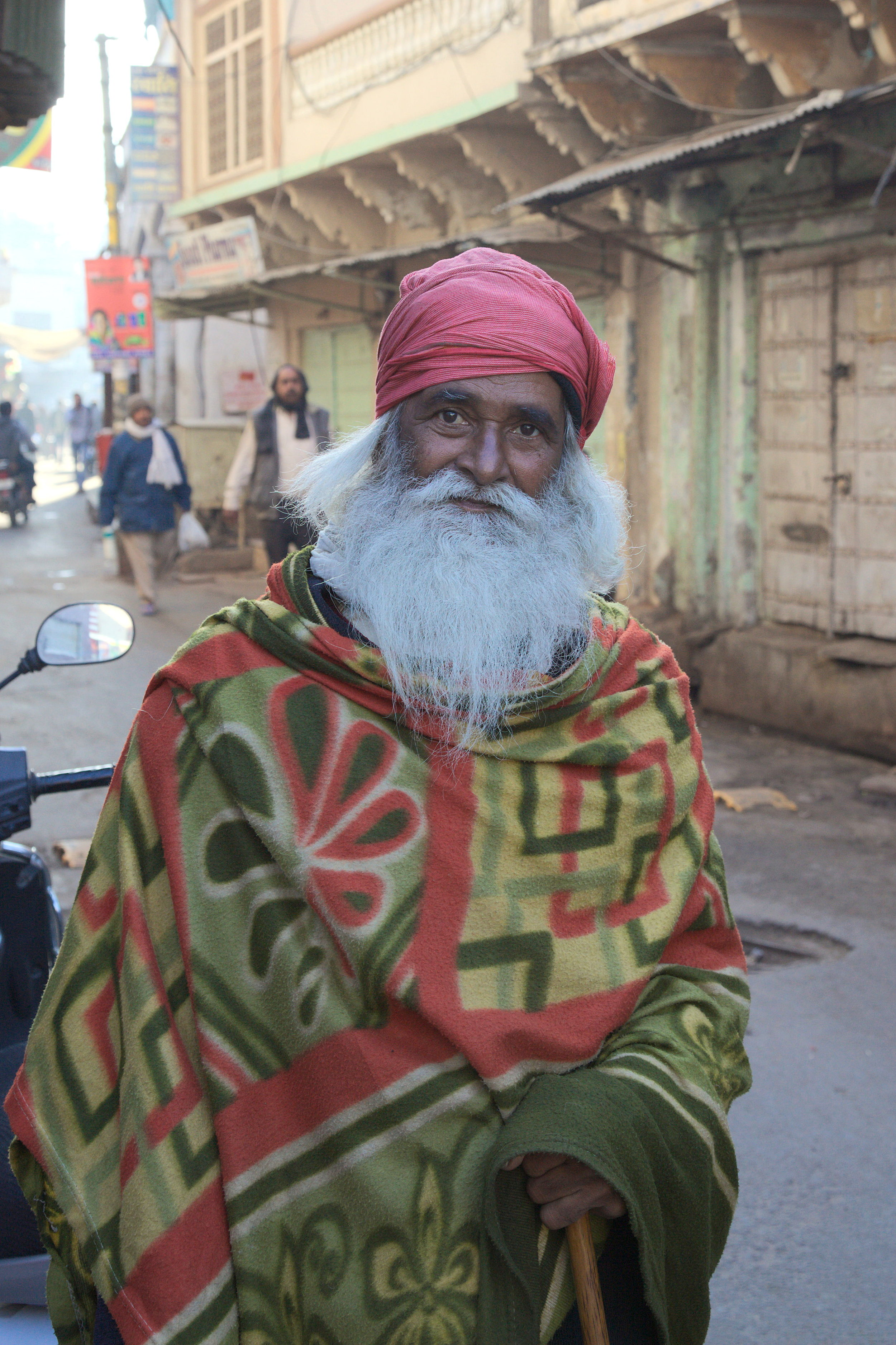 A baba in the holy town of Pushkar, Rajasthan