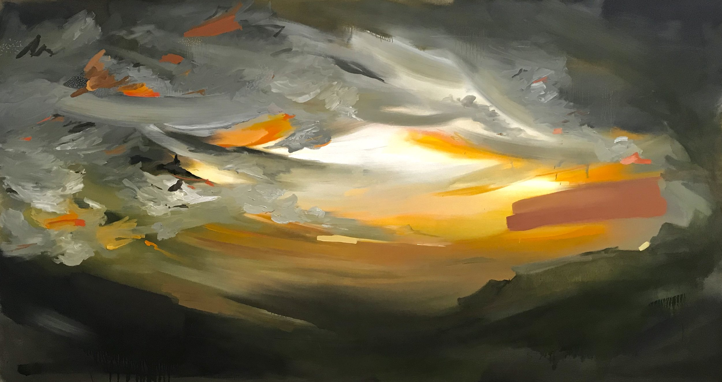 """untitled.  60"""" x 105"""" - oil on canvas"""
