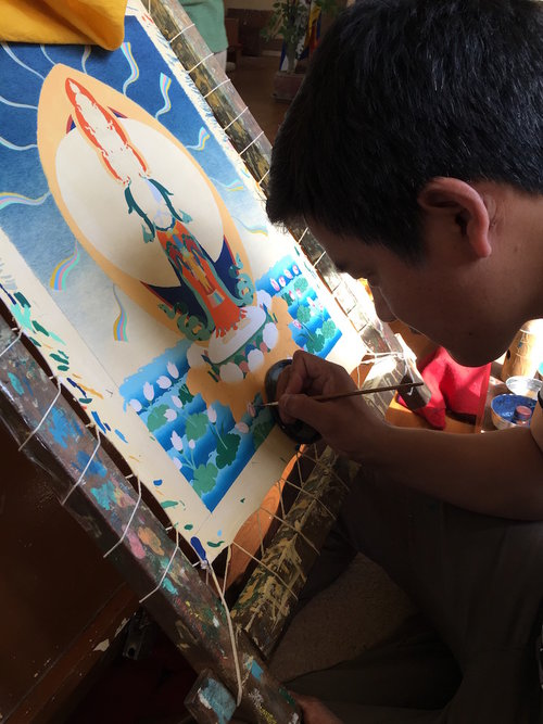 Dharamshala Buddhist art school