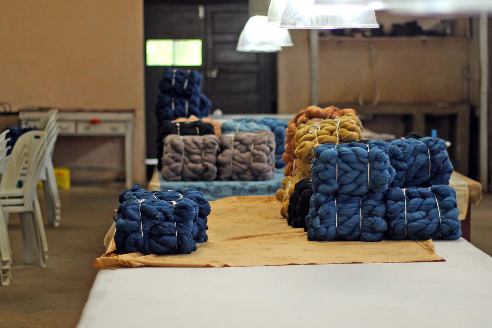 Yarns ready to be shipped