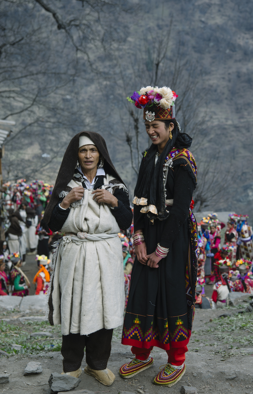 Mother and Daughter, documentation of annual shamanic festivities at Malana, Himalayas 2016