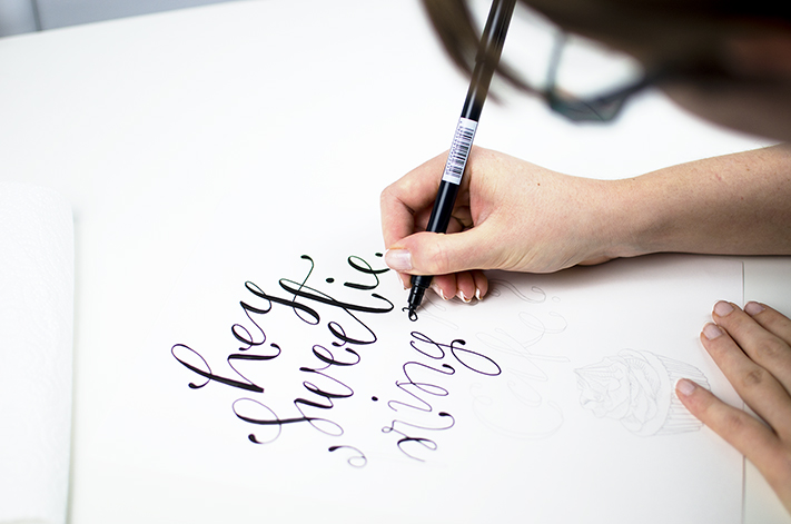 Hand lettering - As well as hand lettering tutorials on my own site and the Paperchase blog, in August 2018 my first course was published.Working with Envato Tuts, I created a course to teach students 'Hand Lettering for Beginners'. The project included creating the course outline and lesson plan, filming, audio recording and video editing to deliver a high quality short course.Click here to view the first two lessons.