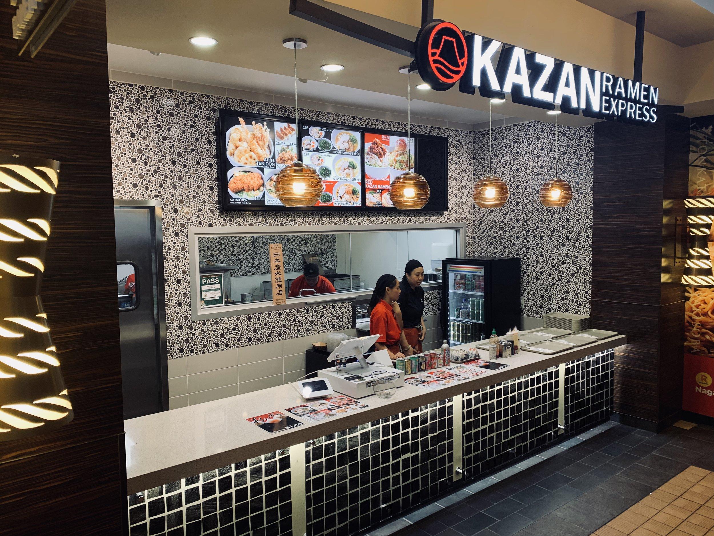 Royal Hawaiian Center Kazan Ramen Express - Commercial high-traffic counter tops with under lighting.