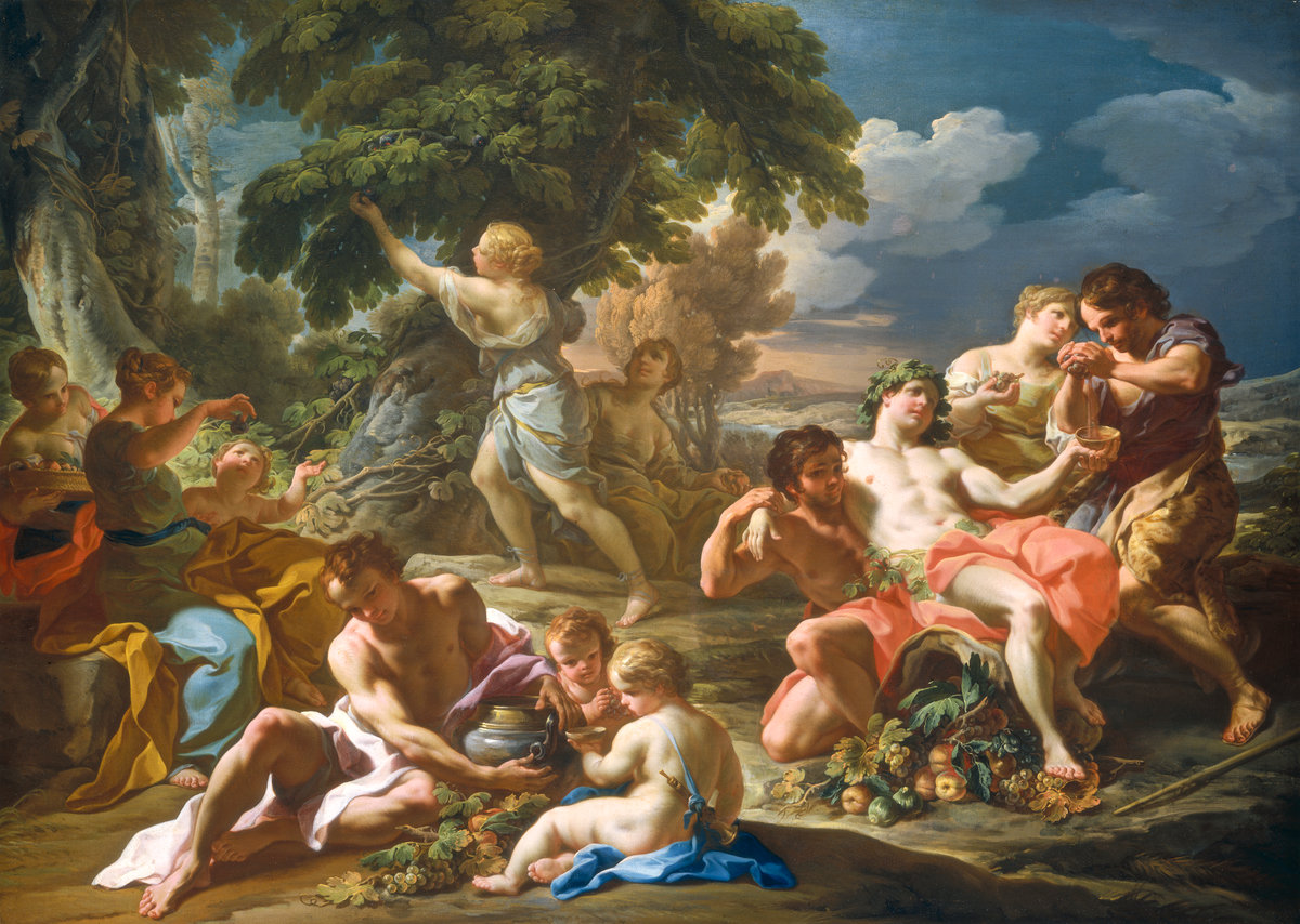 BY CORRADO GIAQUINTO AROUND 1740, NATIONAL GALLERY WASHINGTON DC, 1M X 1.5M, FROM THE 4 SEASONS, PREVIOUSLY OWNED BY  @acquavellagalleries  (NICHOLAS ACQUAVELLA: SEE POST ON BAROQUE FRUIT)