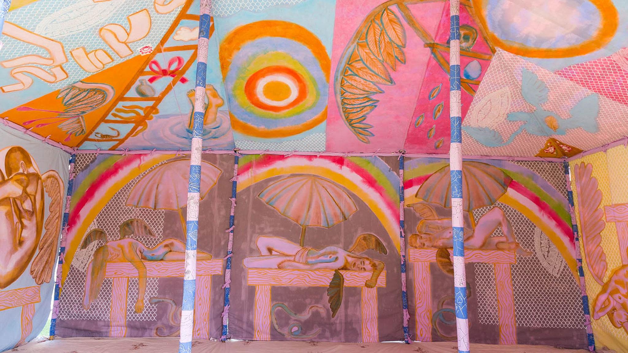 FRANCESCO CLEMENTE, 'ANGELS TENT'