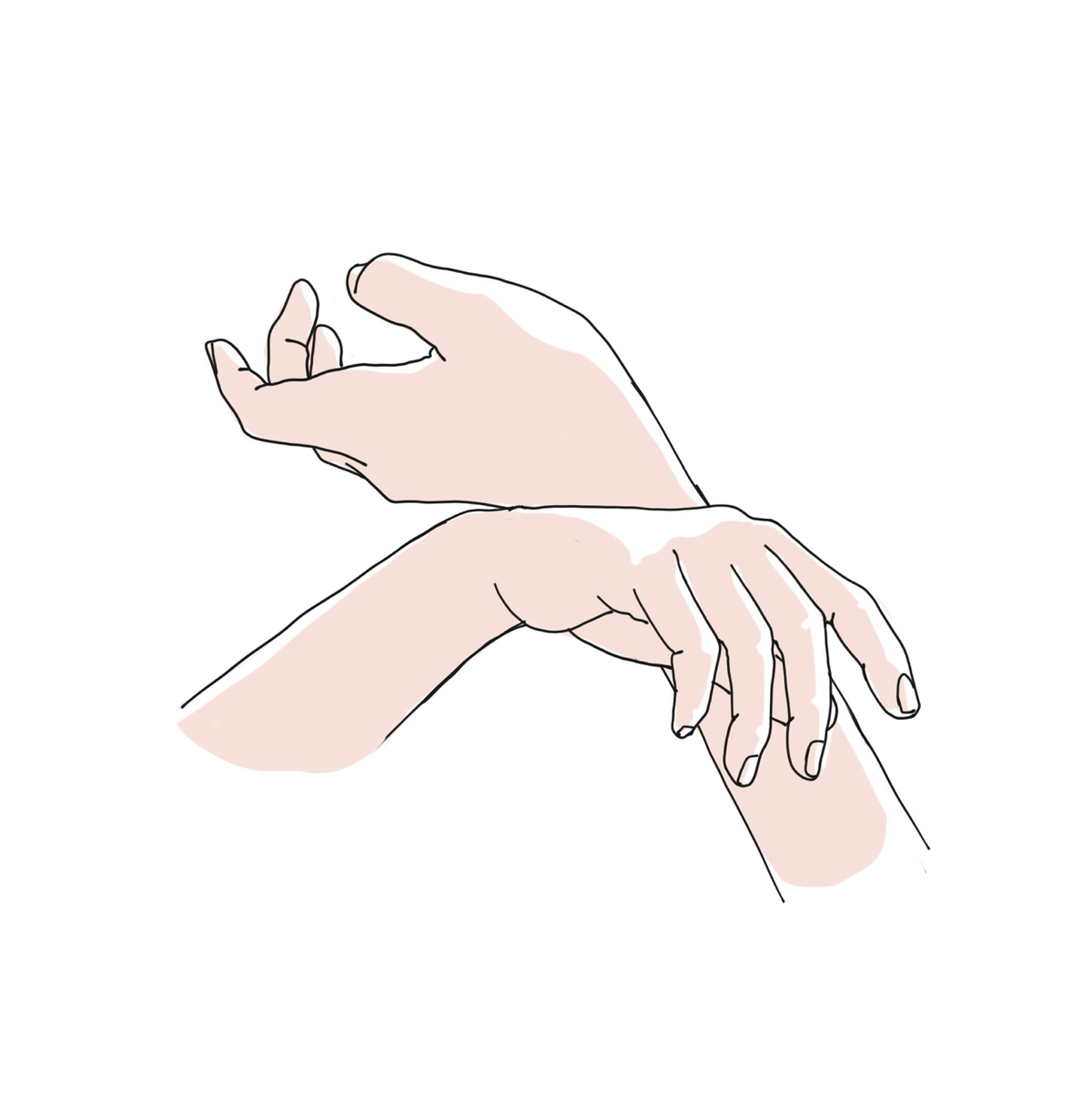 TOUCH ONTO OTHER HAND AND WRISTS -