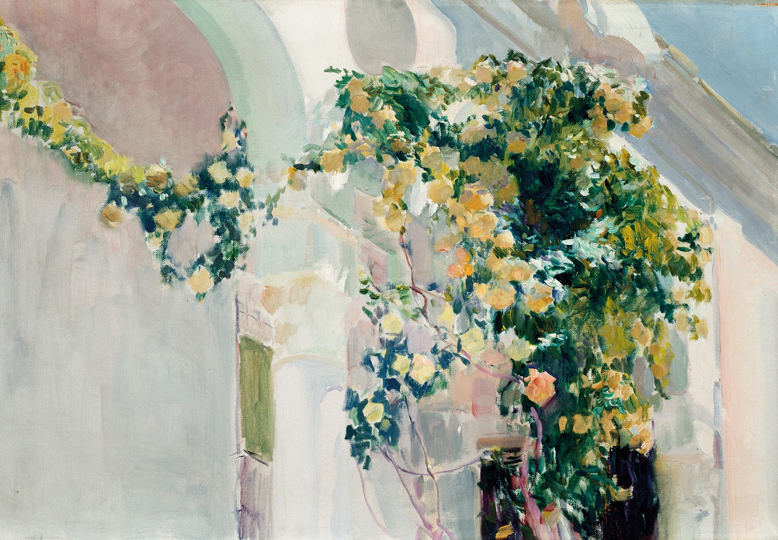 ROSES GROWING ON THE SOROLLA'S HOUSE IN MADRID 1918