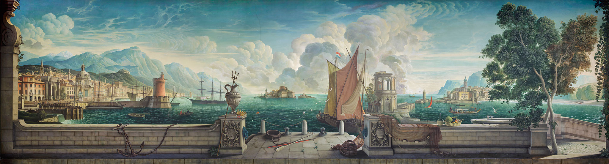 'THE KINGDOM OF THE SEA' AN ITALIAN CAPRICCIO, THE WORK OF AN ARTIST IN LOVE - THE SPIRIT OF LARIA