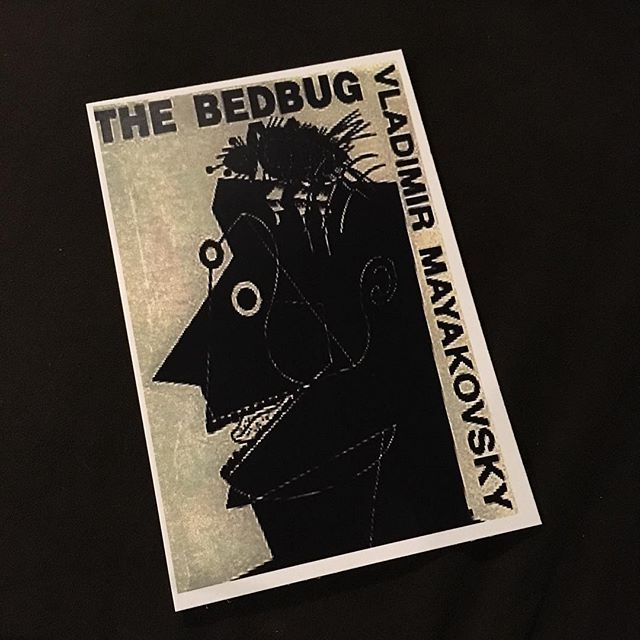 "TONIGHT! The first of two nights of our staged reading of Vladimir Mayakovsky's ""The Bedbug."" 7:30pm tonight! Tickets are $20, link in bio to buy tickets! •Artwork by Matthew Miller• . . . #theatre #nyc #nyctheatre #experimentaltheatre #medicineshow #medicineshowtheatre #thebedbug #russian #russiantheatre #soviet #sovietliterature #vladimirmayakovsky #bolshevik #bolshevikrevolution #bolshevikrevolution100 #bolshevikrevolution1917 #newrenaissancetheatrecompany #elizabethruelas"