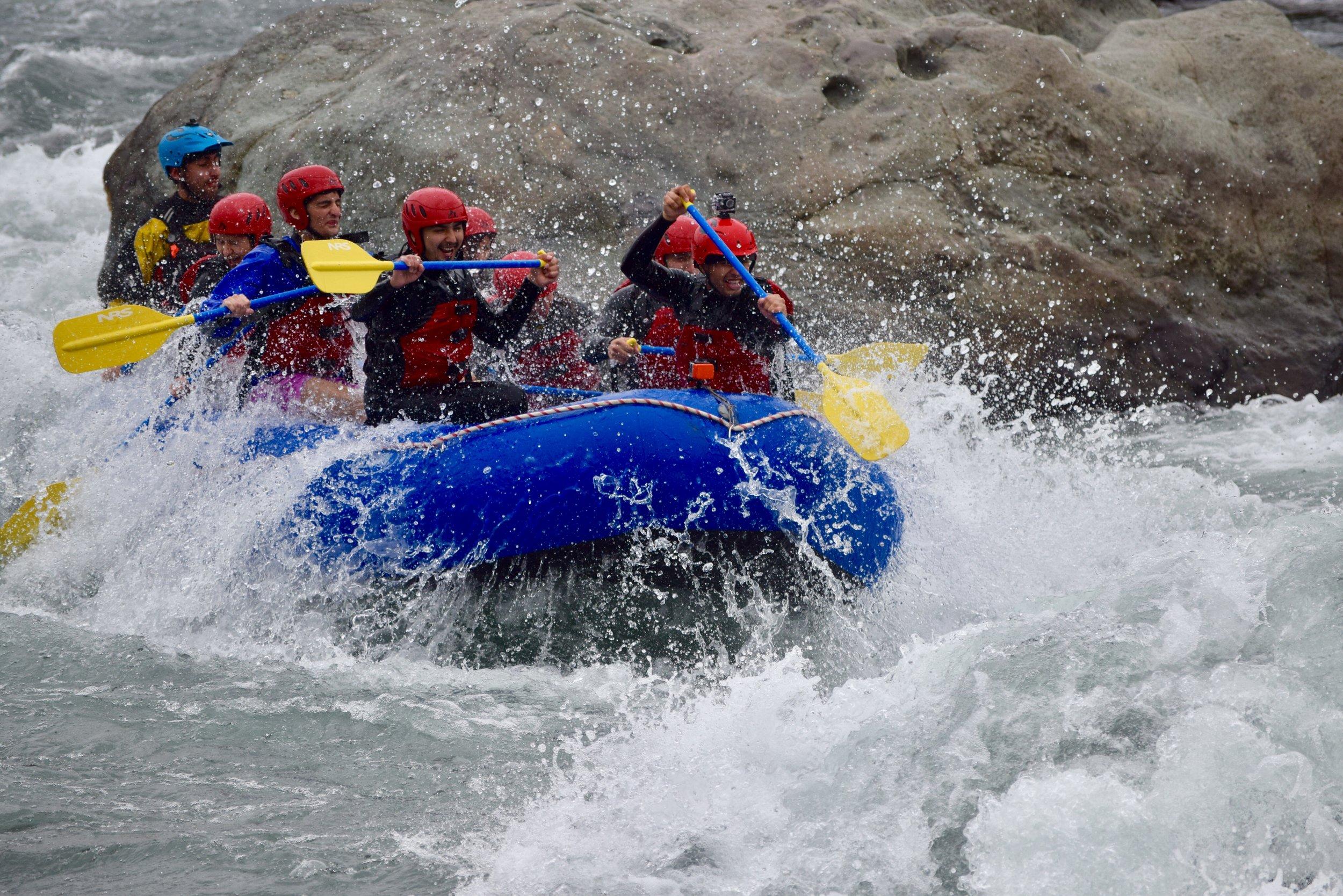 Todo el año se disfruta del mejor rafting de Ñuble