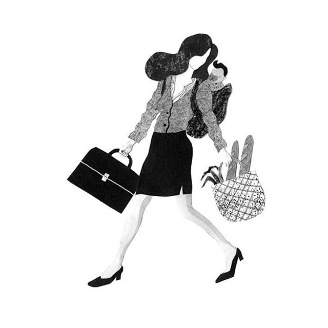 Lots to do this week. Nbd, artwork: @hyejinchung831 via @nytimes . . . . . . .  #art #artists #workingmoms #work #comedy #funny #womenworking #womenonwork #children #smile #illustration #shopping #heels #blackandwhite #gray #busy #loveyourself #truth #humanrights #womensrights #metoo #gender #genderpaygap #elections #elections2019 #women #woman #girls #allies #advocate