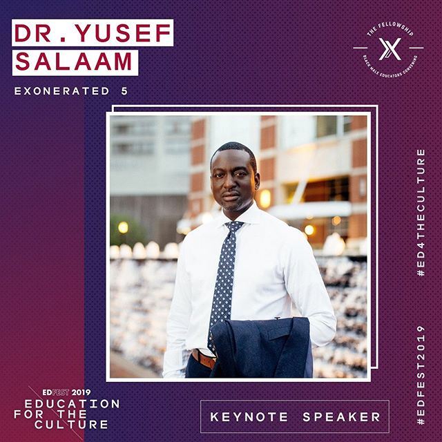 ⚡️ Client News: #EdFest2019 is just around the corner. Join @fellowshipbmec and partners for their National Convening Oct 18-20. This years conference features keynote speaker @dr.yusefsalaam of #theexonerated5. Registration is open 🙌🏽 Make sure you're following @fellowshipbmec for additional details surrounding the conference!