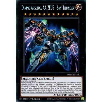 Sky Thunder Divine Arsenal AA-ZEUS PHRA-EN045 YUGIOH Secret Rare -1st Ed