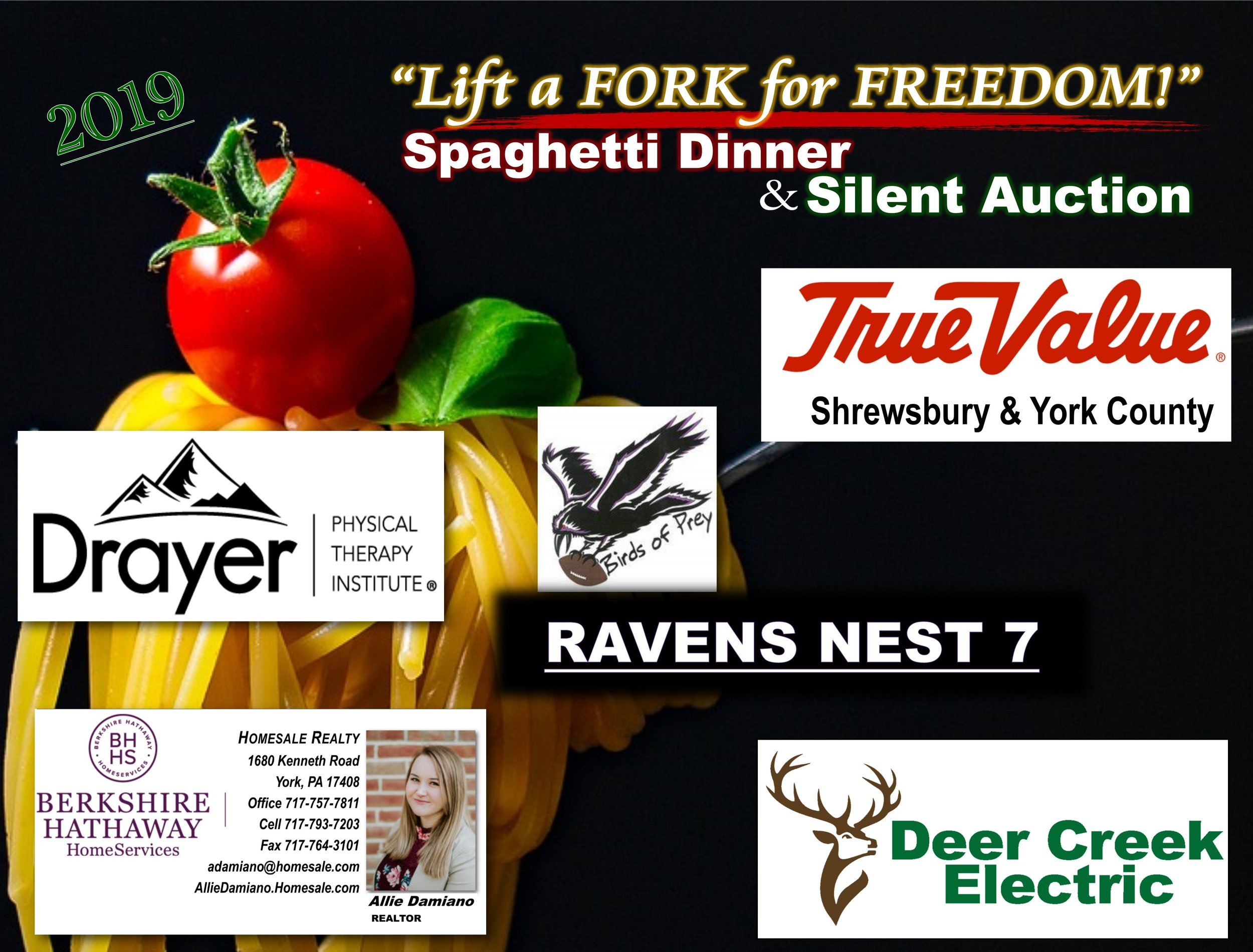 2019 Spaghetti Dinner & Silent Auction - SPONSORS -