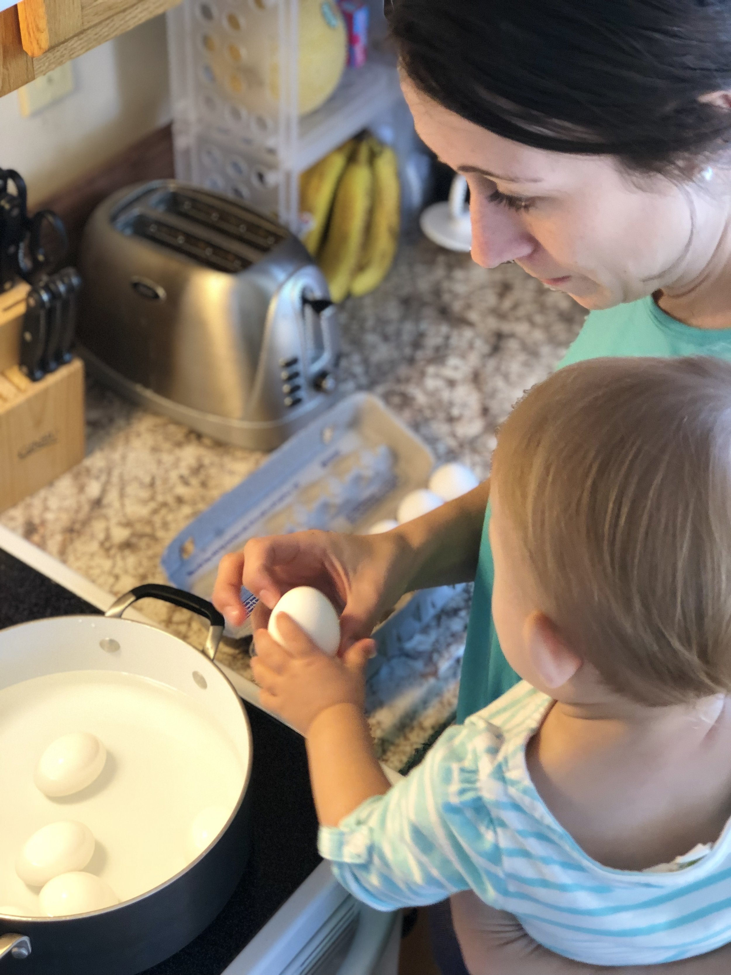 A Natural Easter Craft for the Whole Family   Coloring Easter Eggs with Whipped Cream