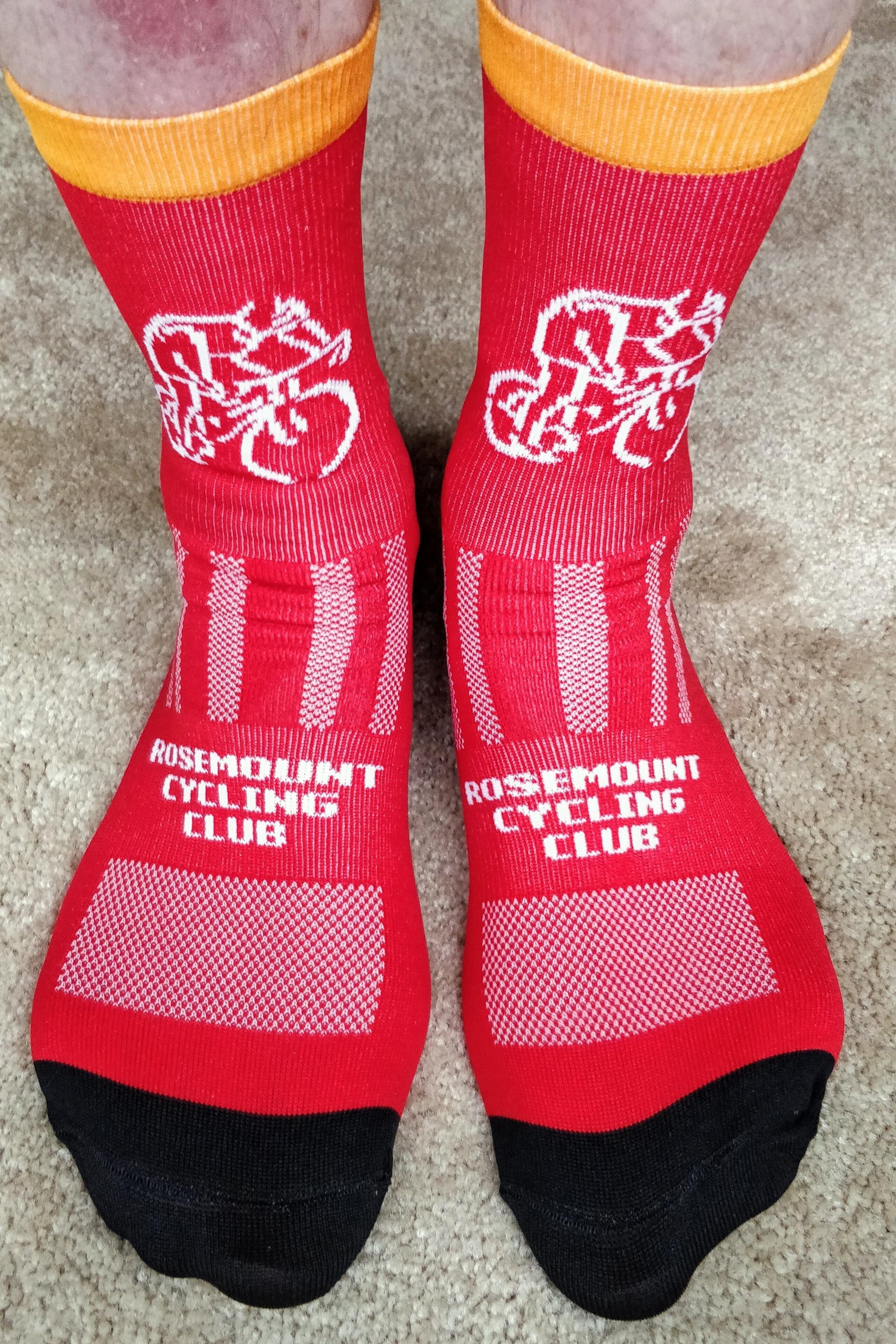 RCC's custom socks for 2019.