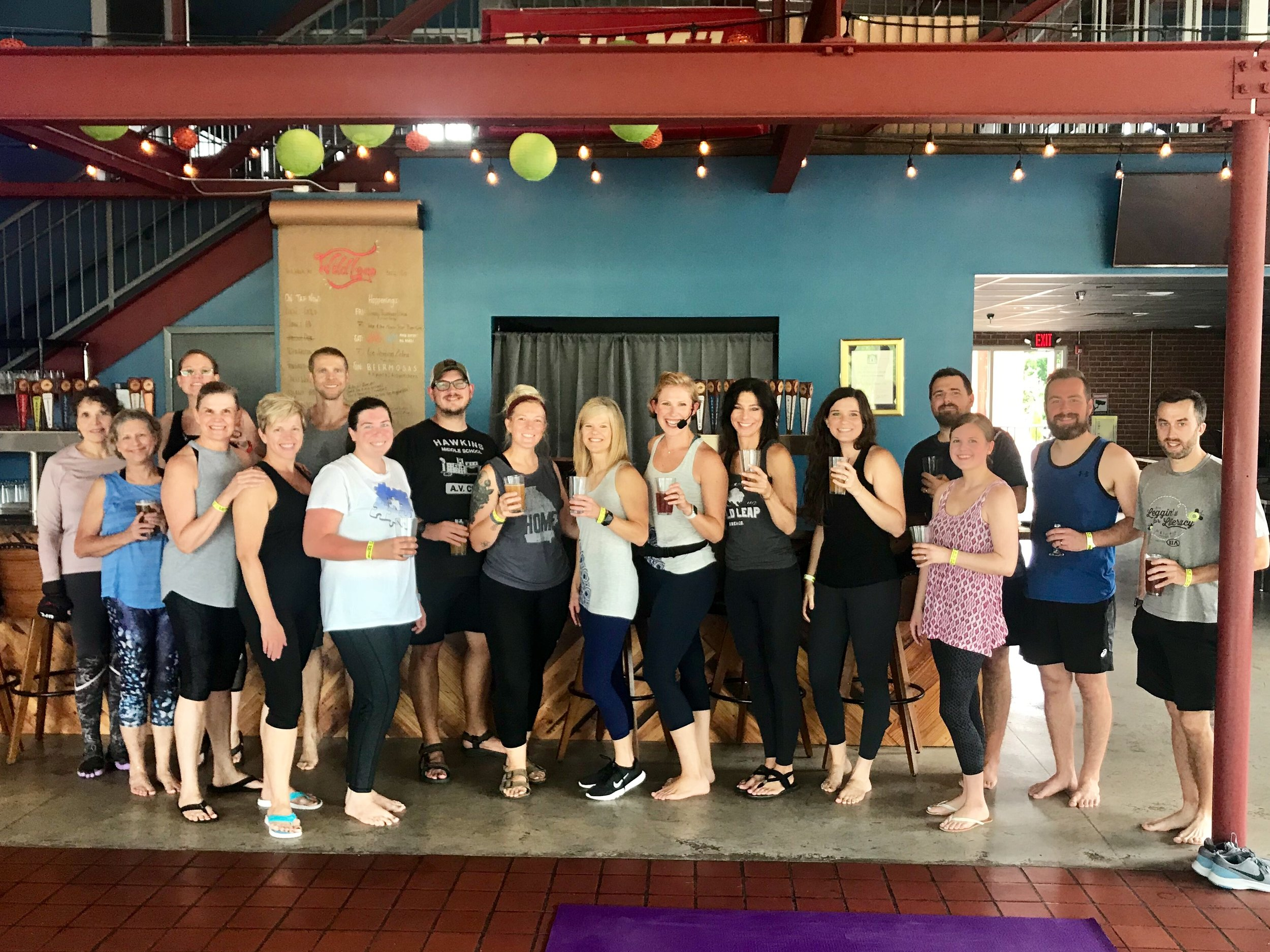 Round 2 of Yoga and Beer was a hit! These Sun Warriors chased the rain away and earned their beer! Come back on August 4th for Pound!