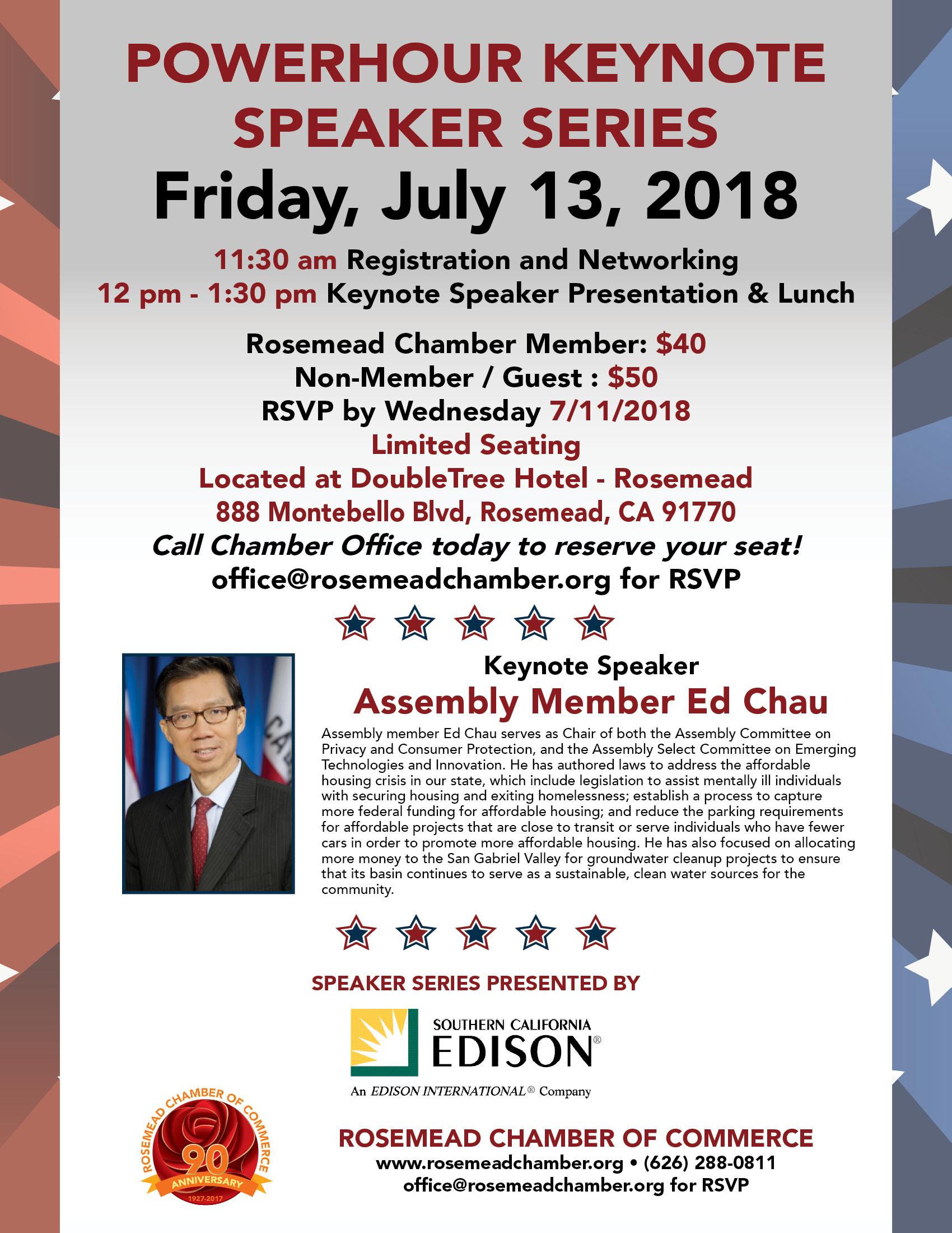 Powerhouse keynote speaker series - Friday, July 13th, 2018