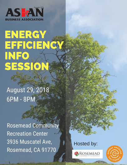 Energy efficiency info session - August 29th, 2018