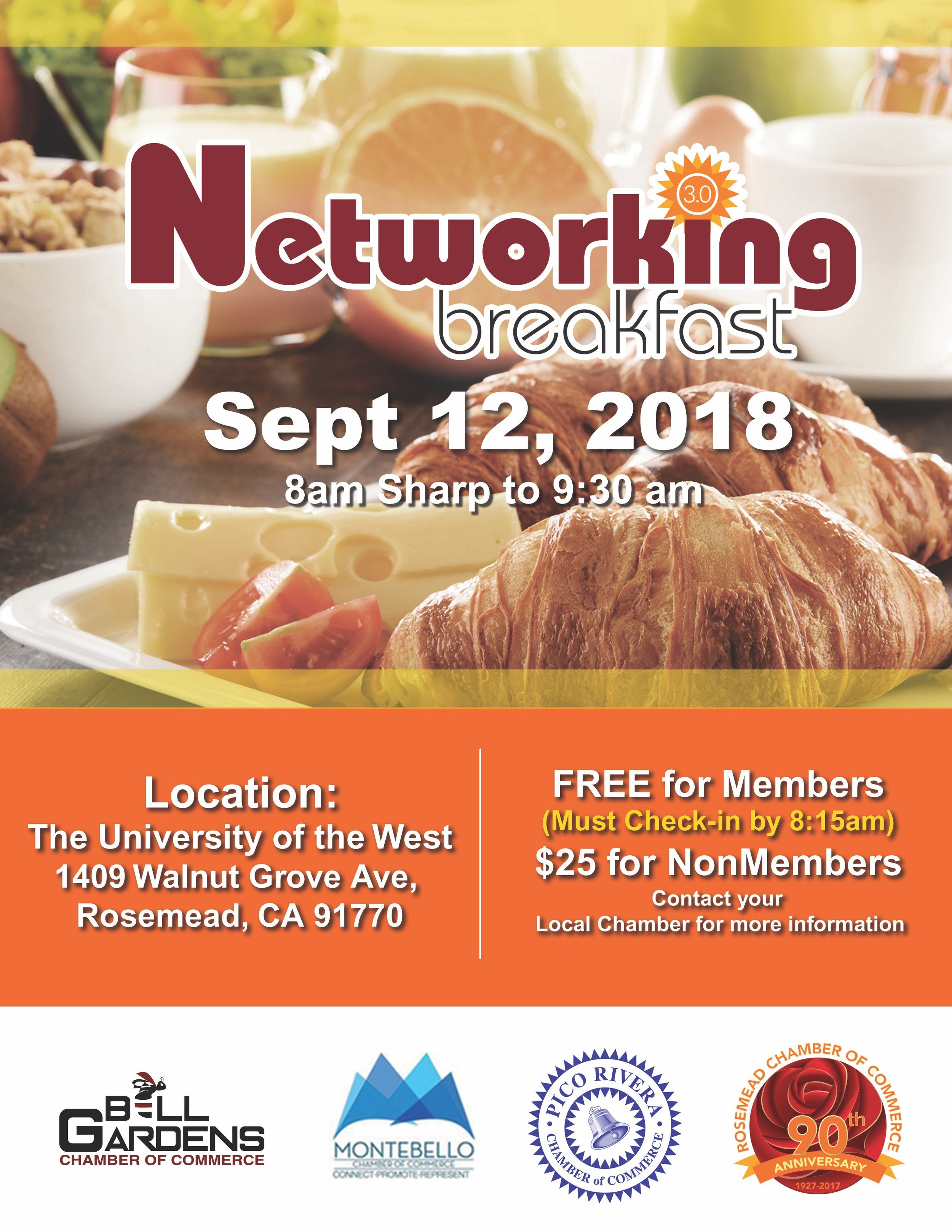 Networking breakfast 3.0 - September 12th, 2018