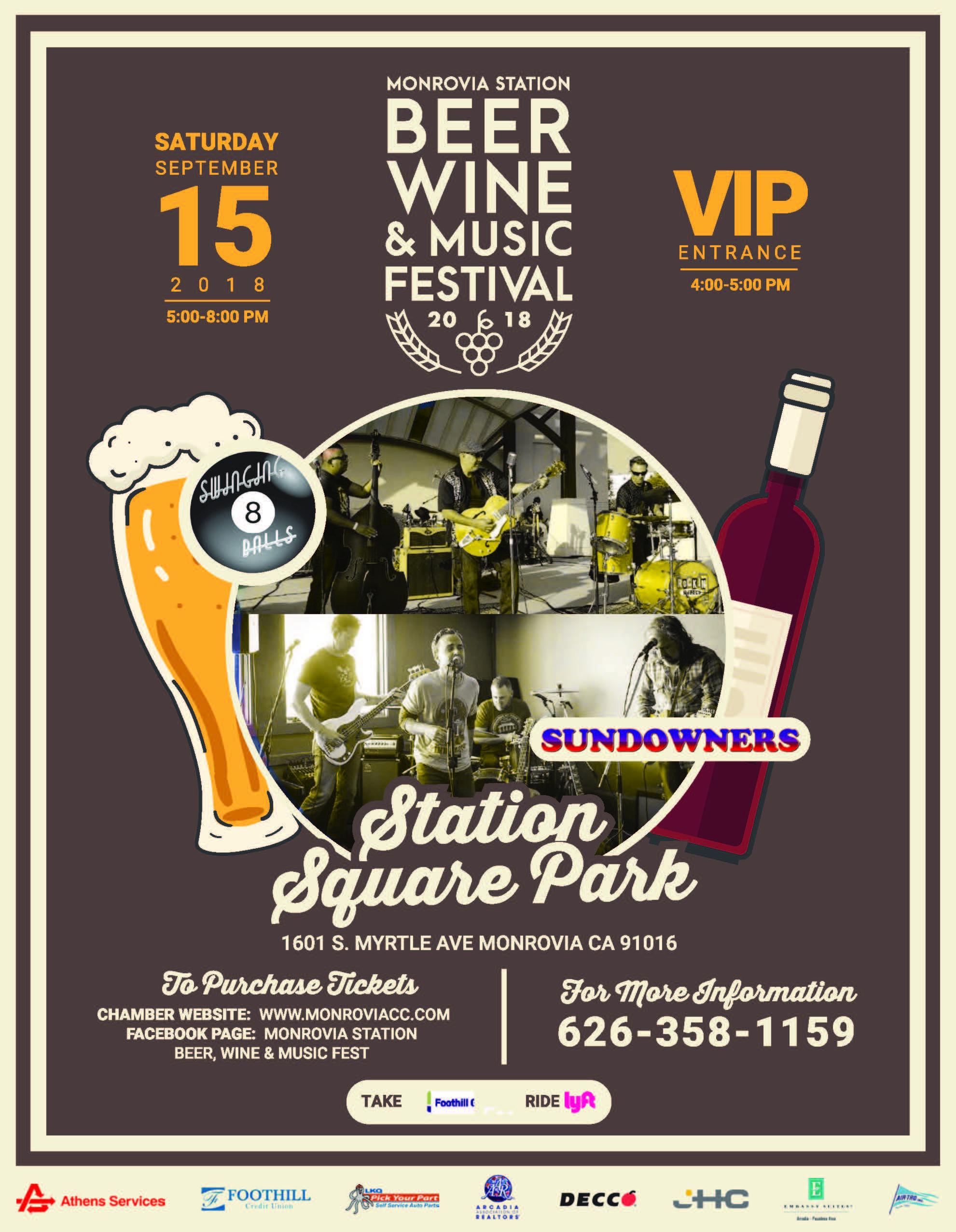 beer wine & Music festival - September 15th, 2018