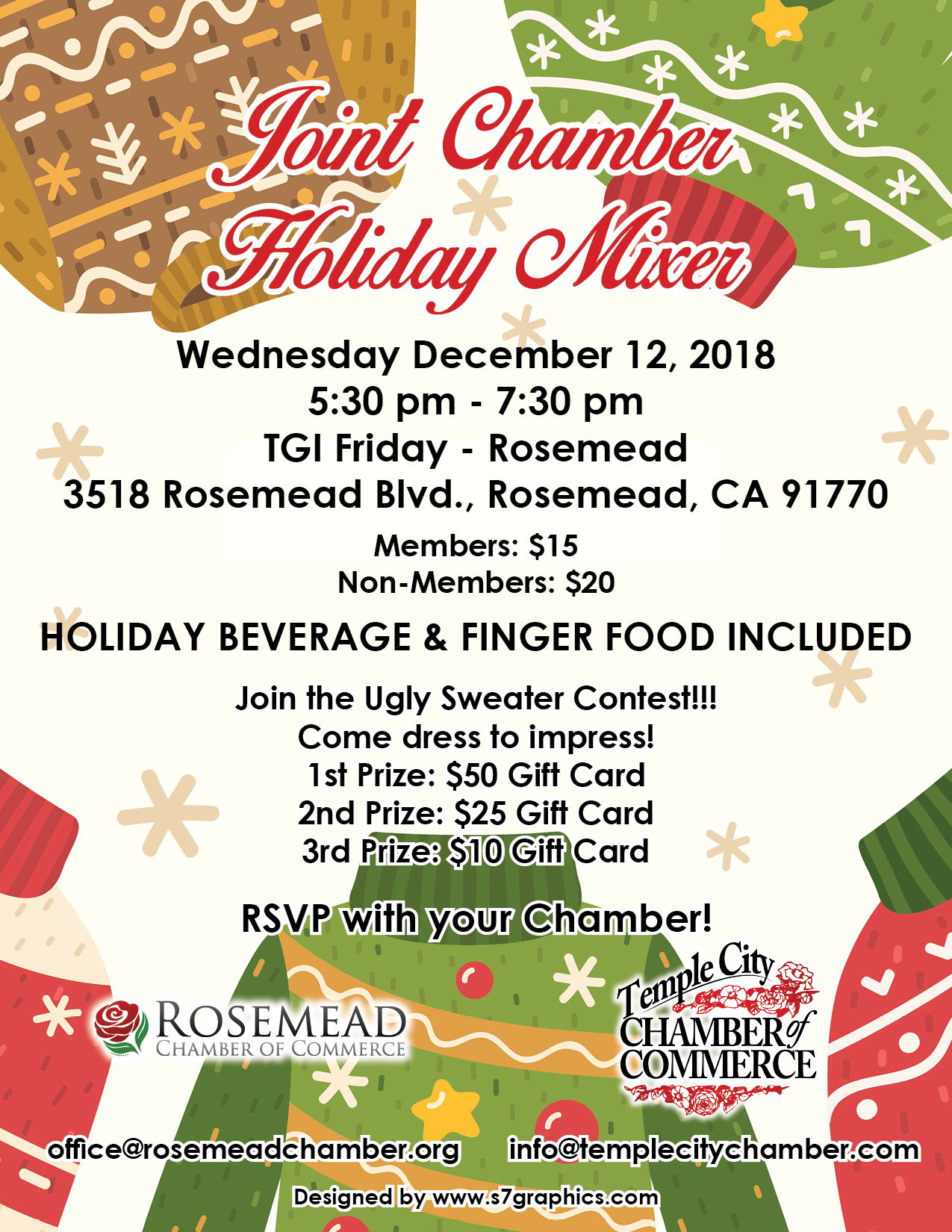joint chamber holiday mixer - December 12th, 2018