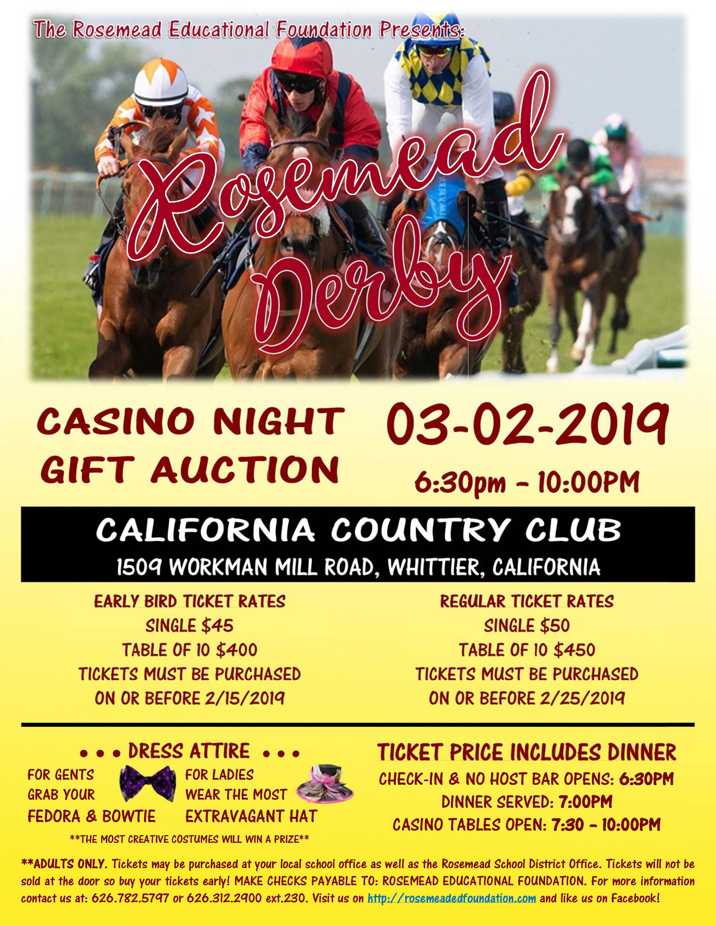 the rosemead educational foundation's Casino night - March 3rd, 2019