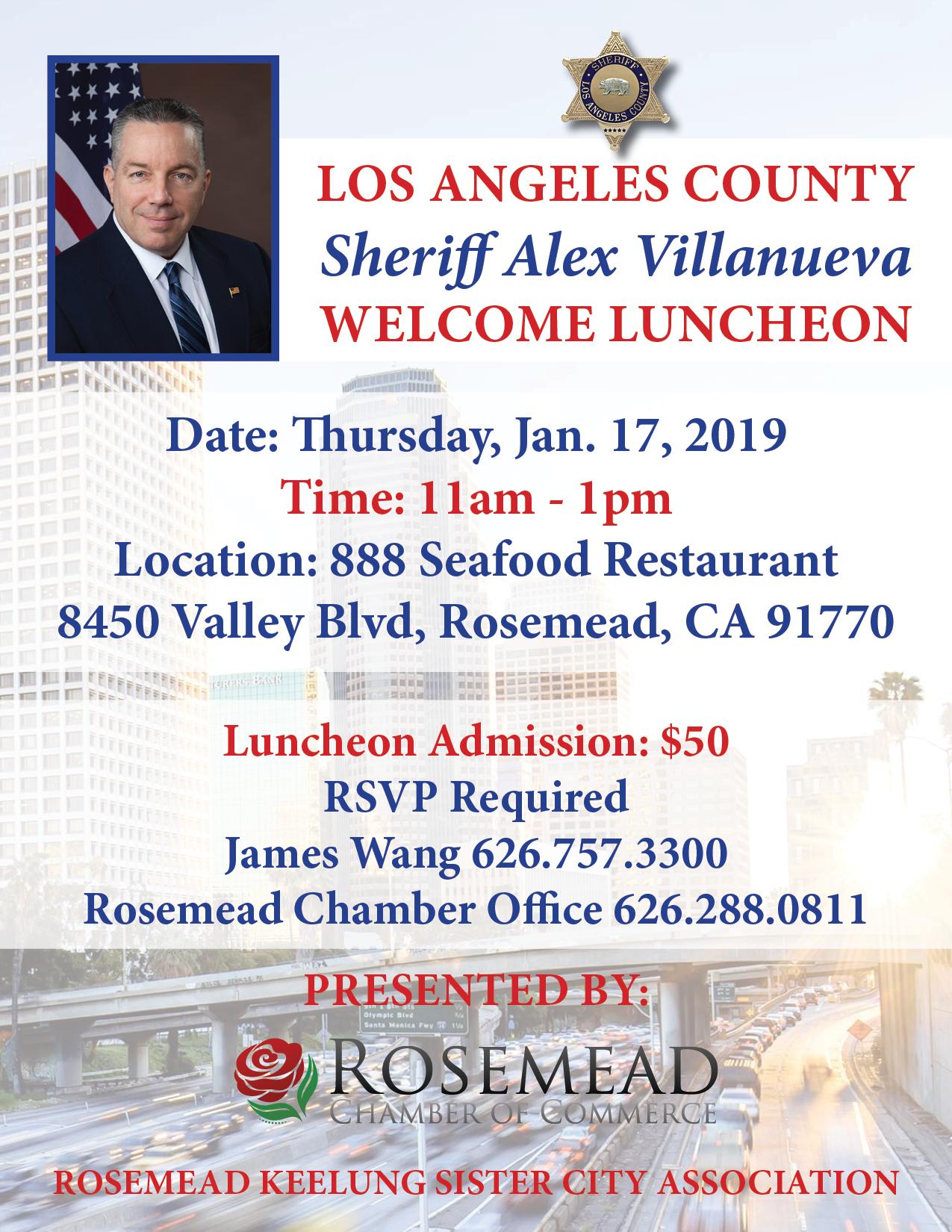 lasd alex villanueva welcome luncheon - January 17th, 2019
