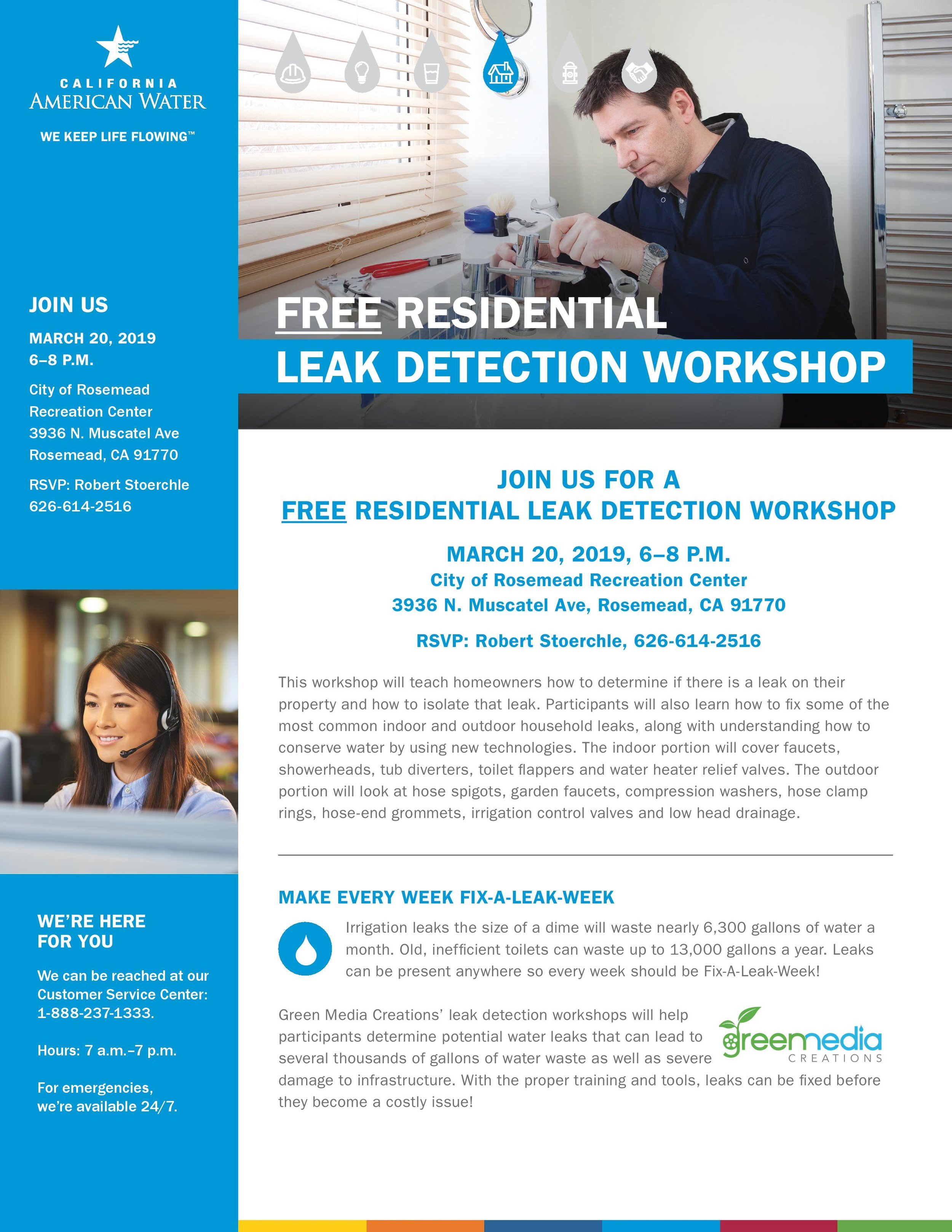 residential leak detection workshop - March 20th, 2019