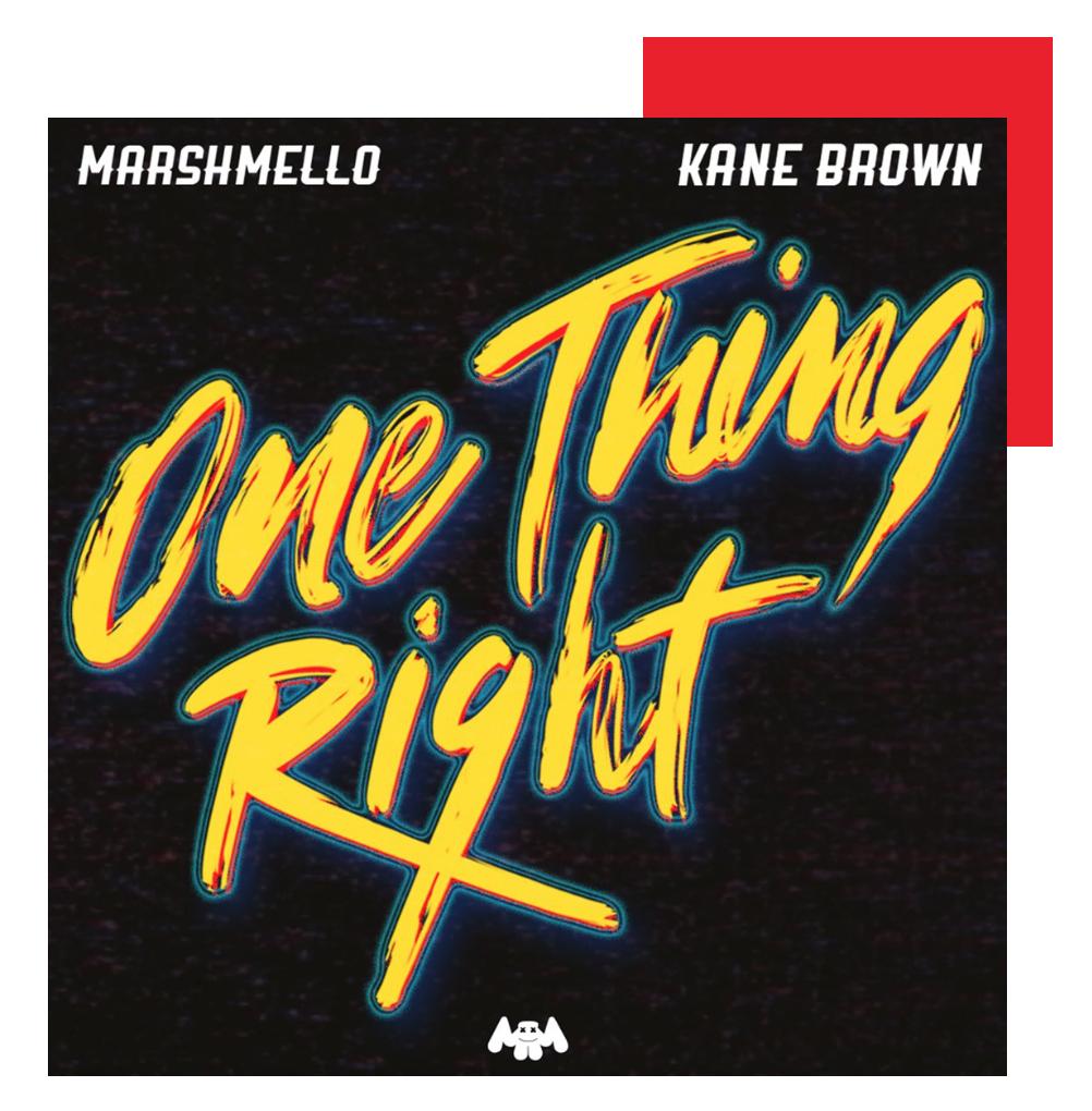 Kane Brown Marshmello One thing right