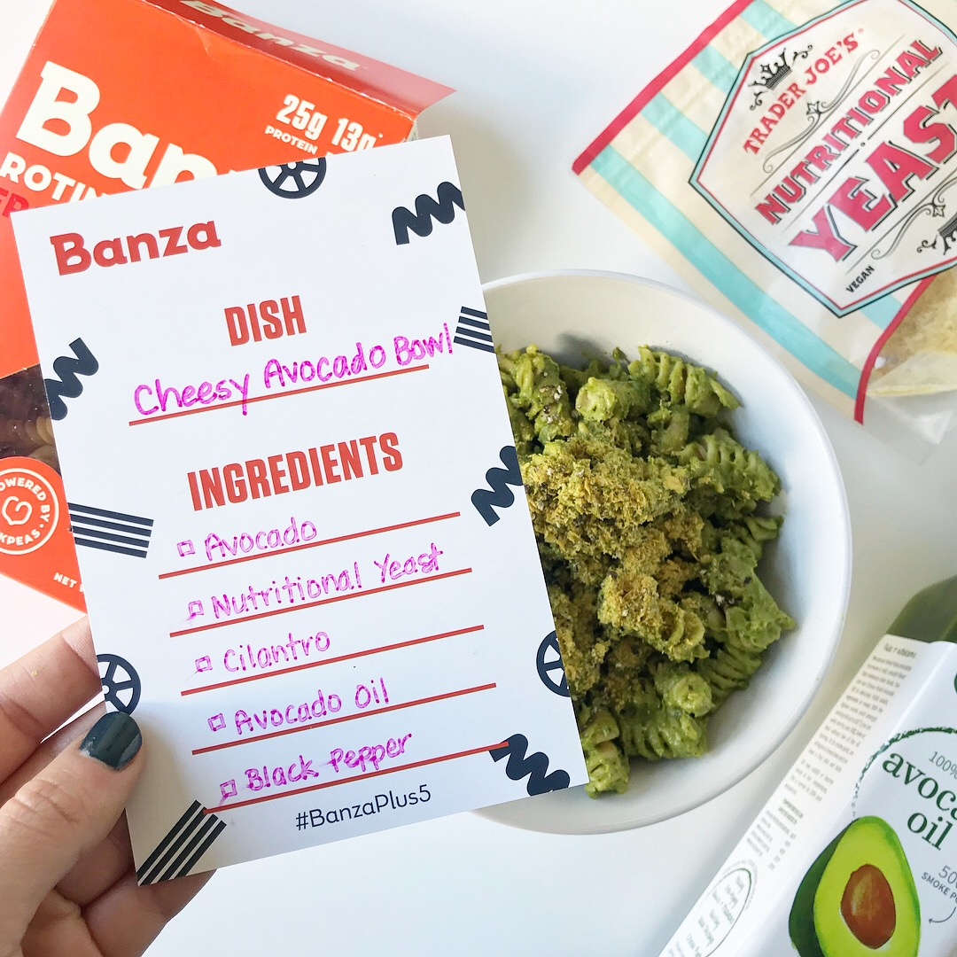 Cheesy Avocado Banza Bowl -- The Life She Wanders