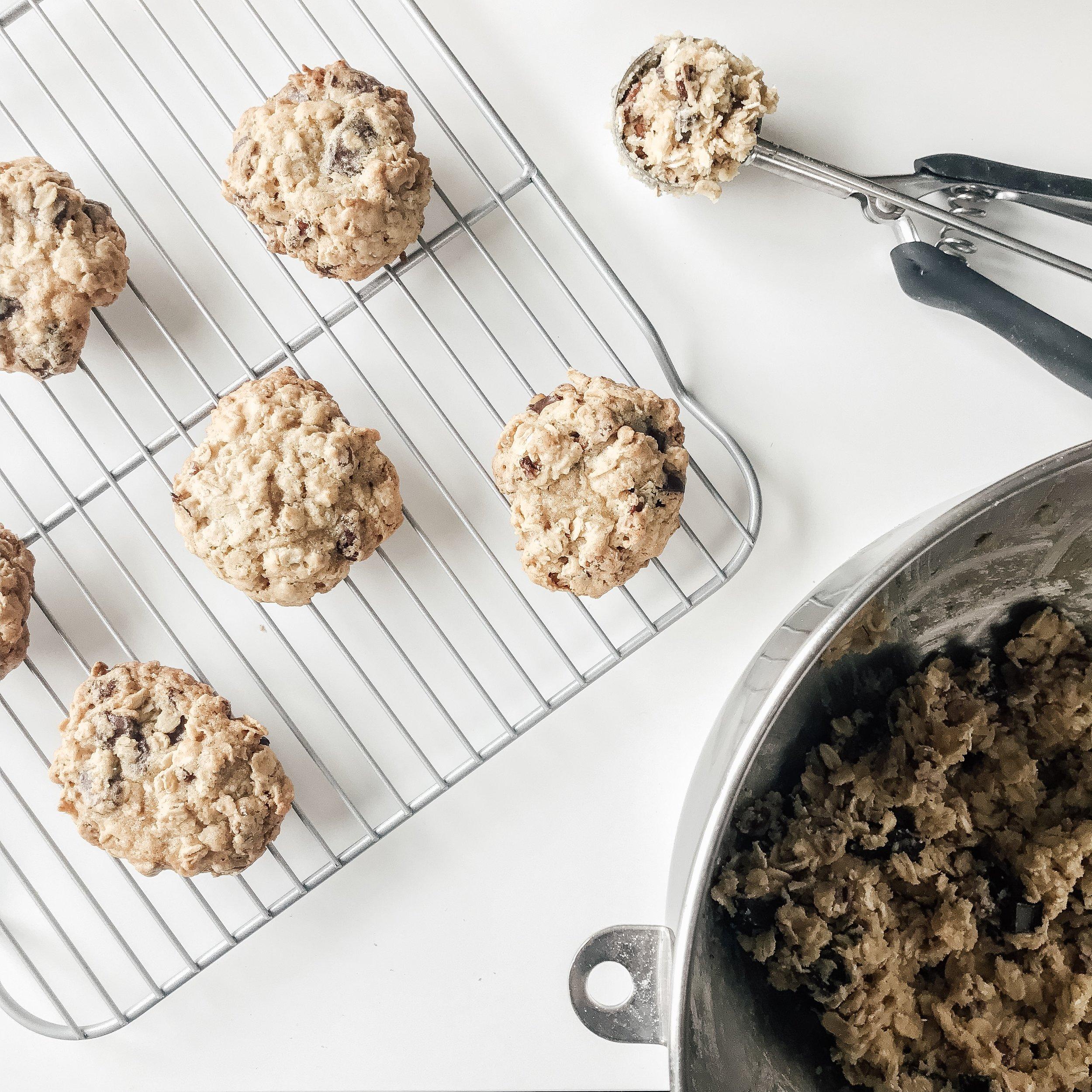 Chocolate-Pecan Oatmeal Cookies - The Life She Wanders