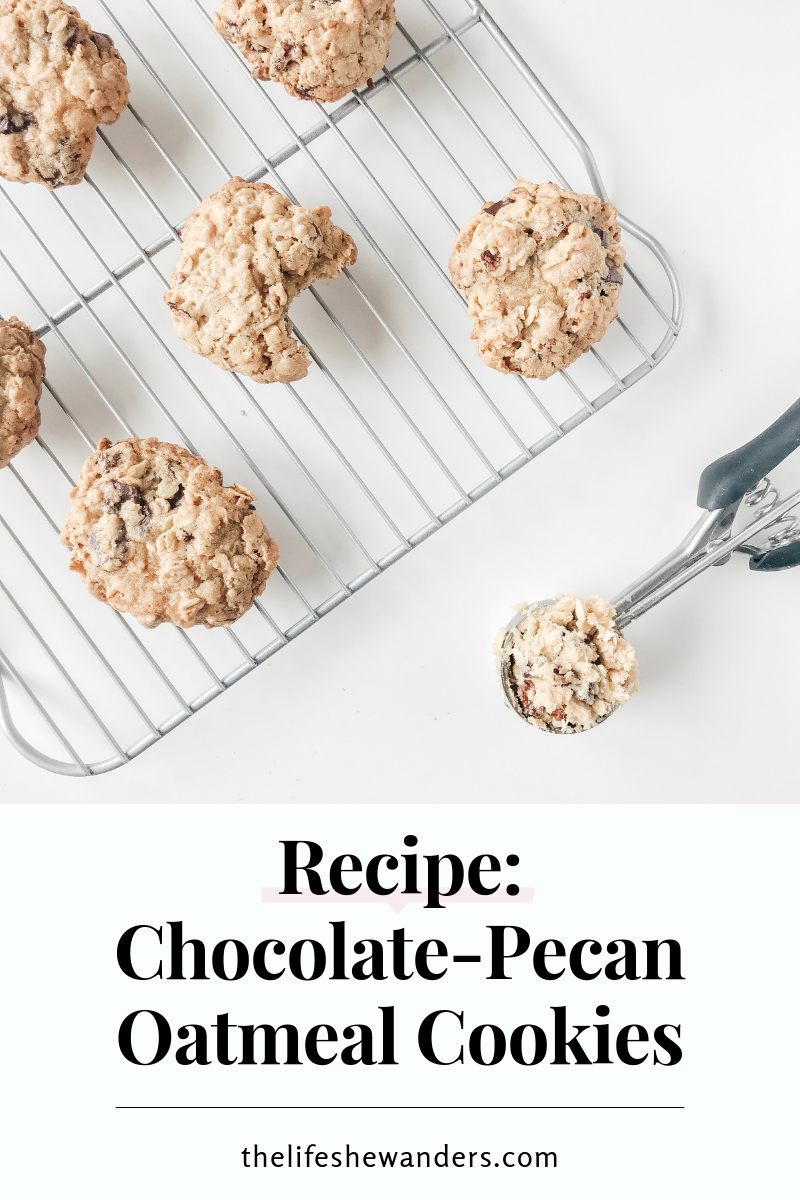 Chocolate-Pecan Oatmeal Cookies -- The Life She Wanders