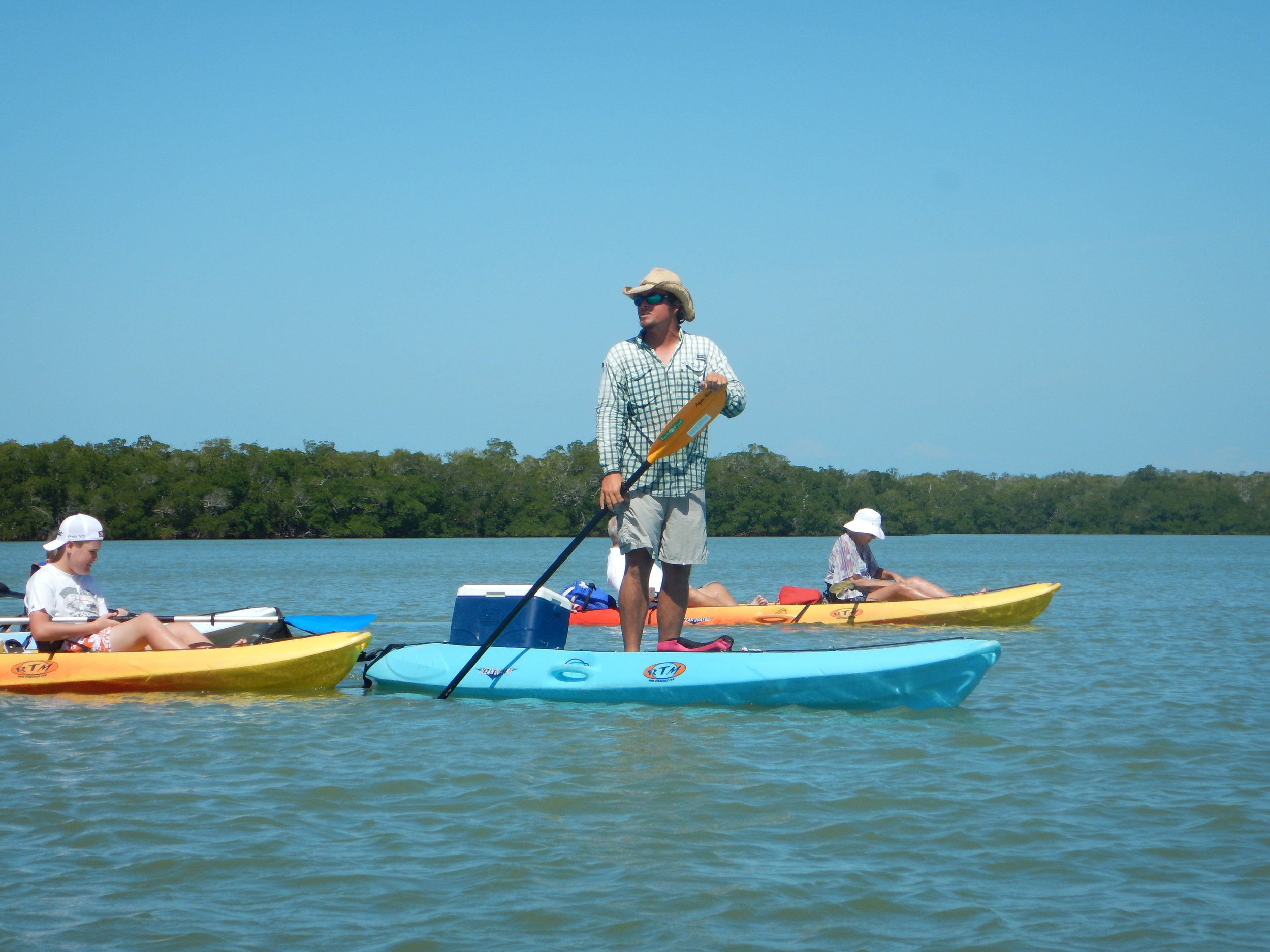 The author leading a group paddle.